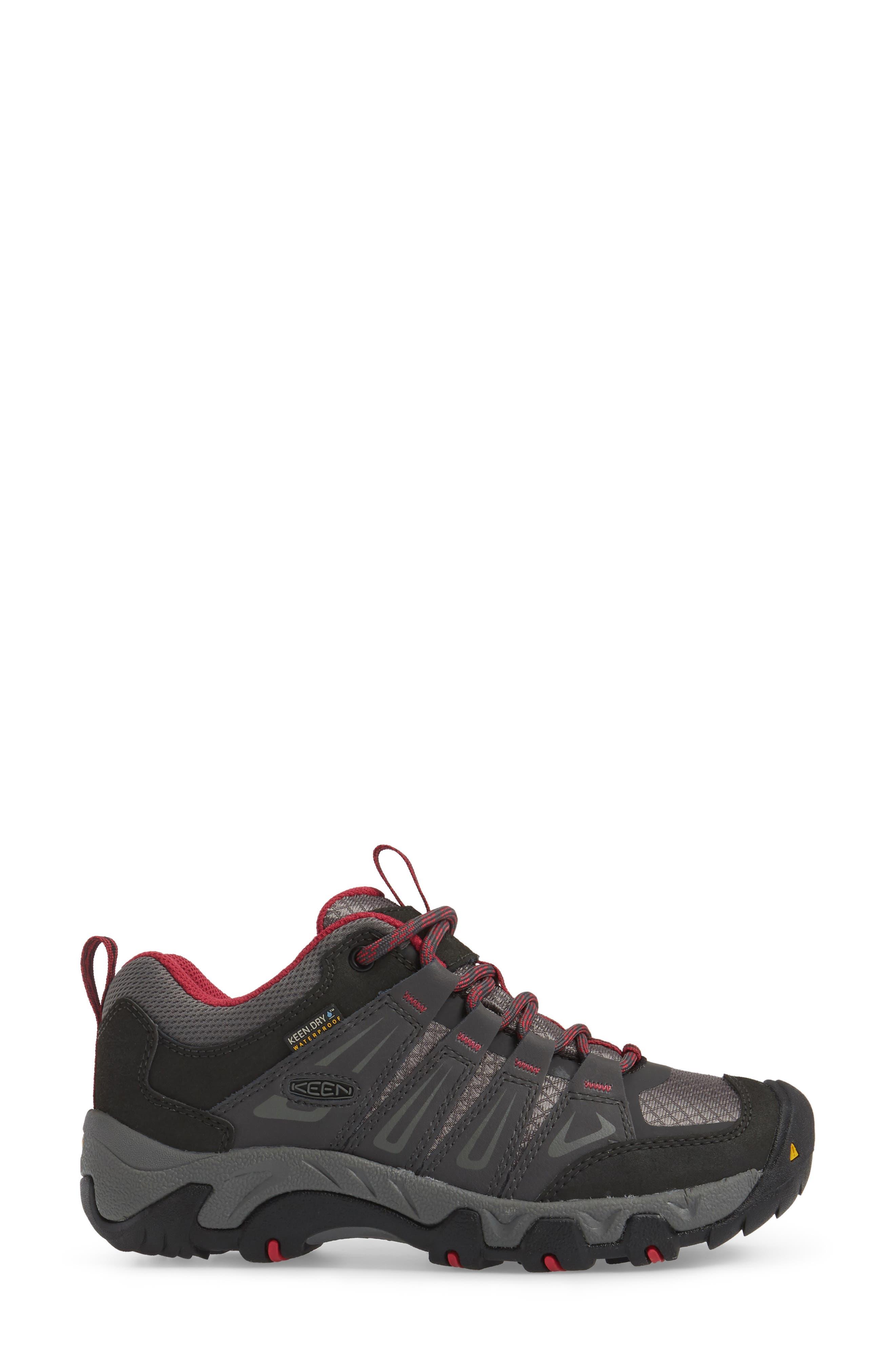 Oakridge Waterproof Hiking Shoe,                             Alternate thumbnail 3, color,                             Magnet/ Rose Fabric