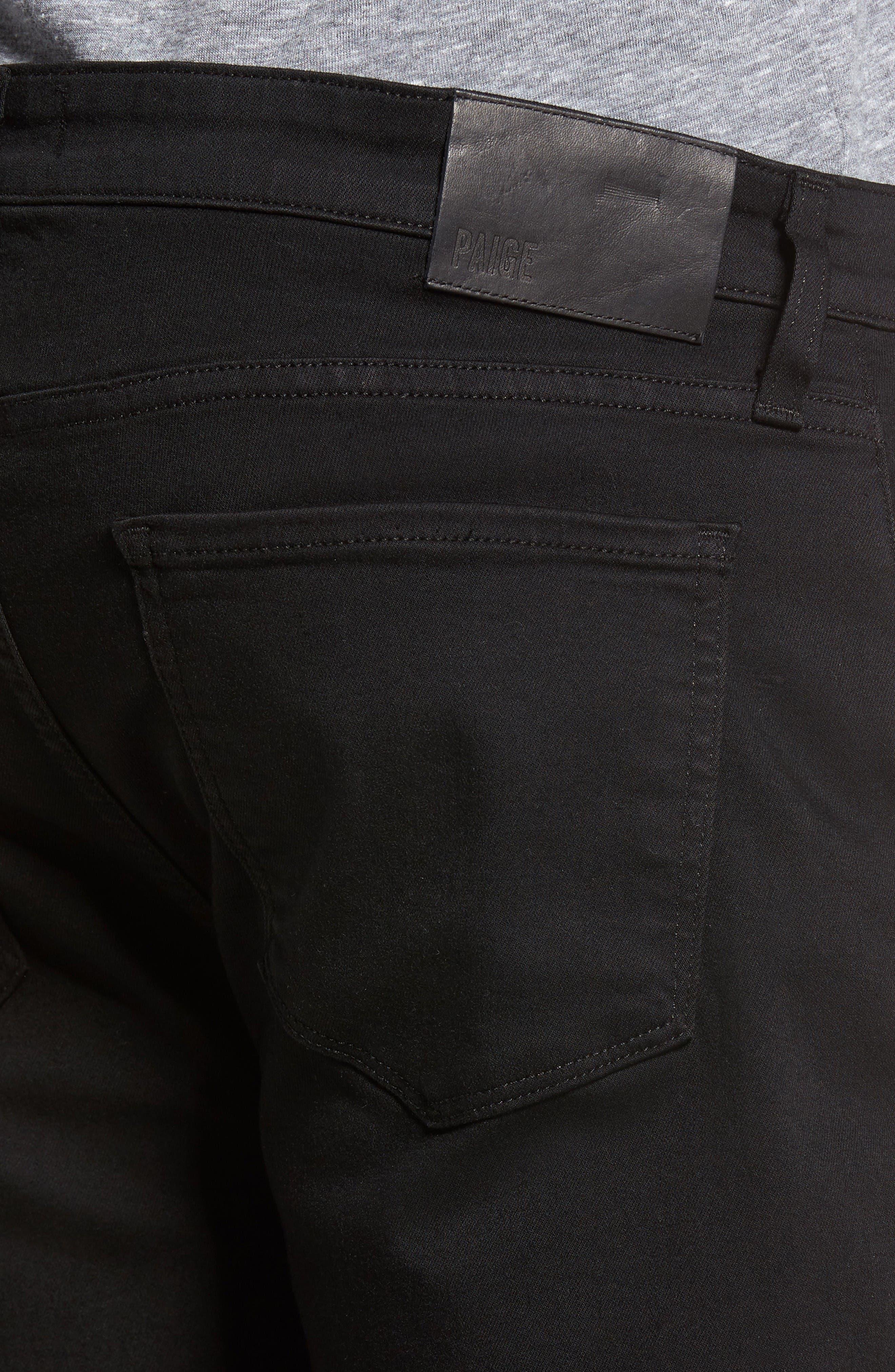Federal Slim Straight Leg Jeans,                             Alternate thumbnail 4, color,                             Black Shadow
