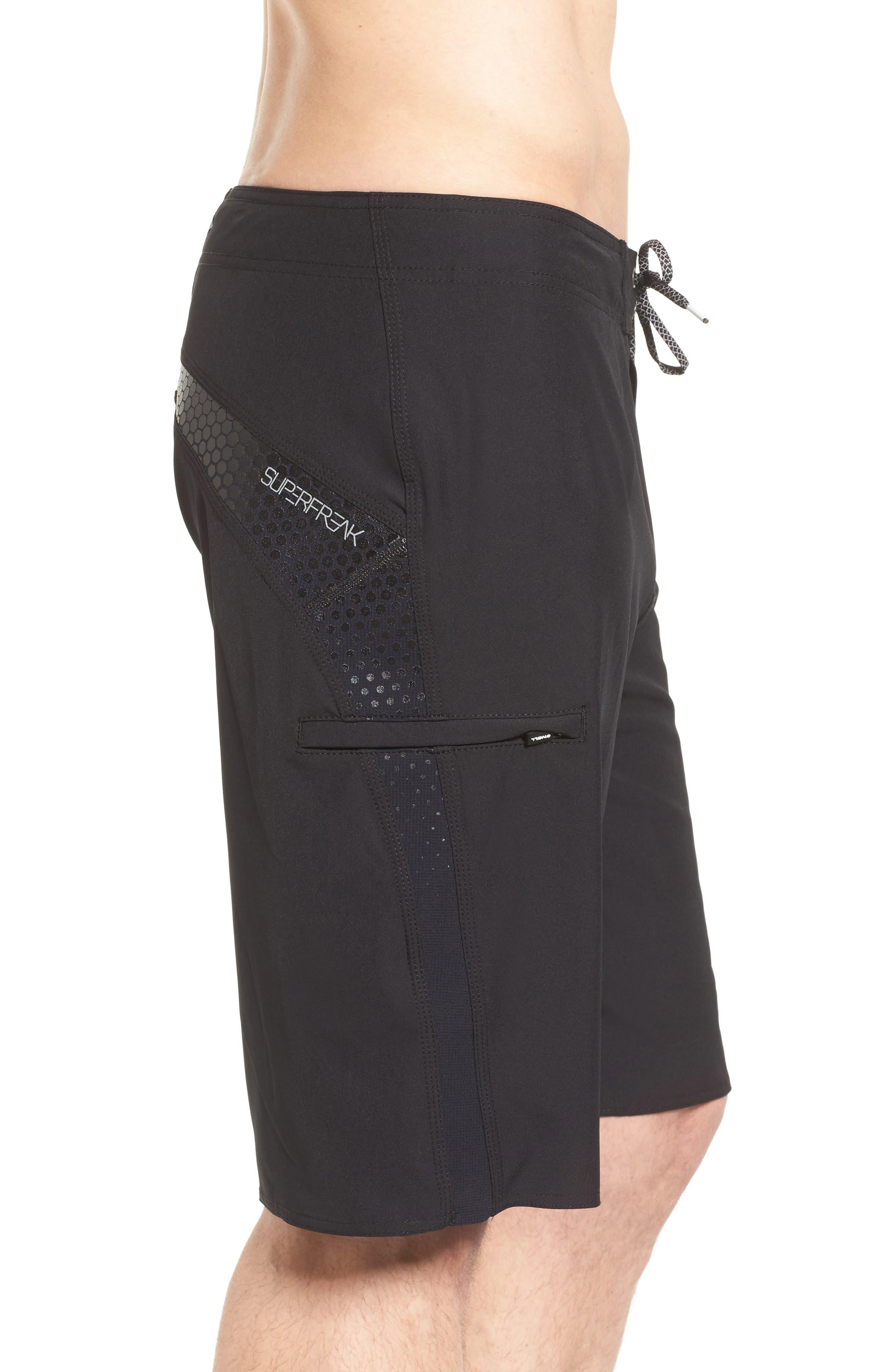 Superfreak Board Shorts,                             Alternate thumbnail 3, color,                             Black