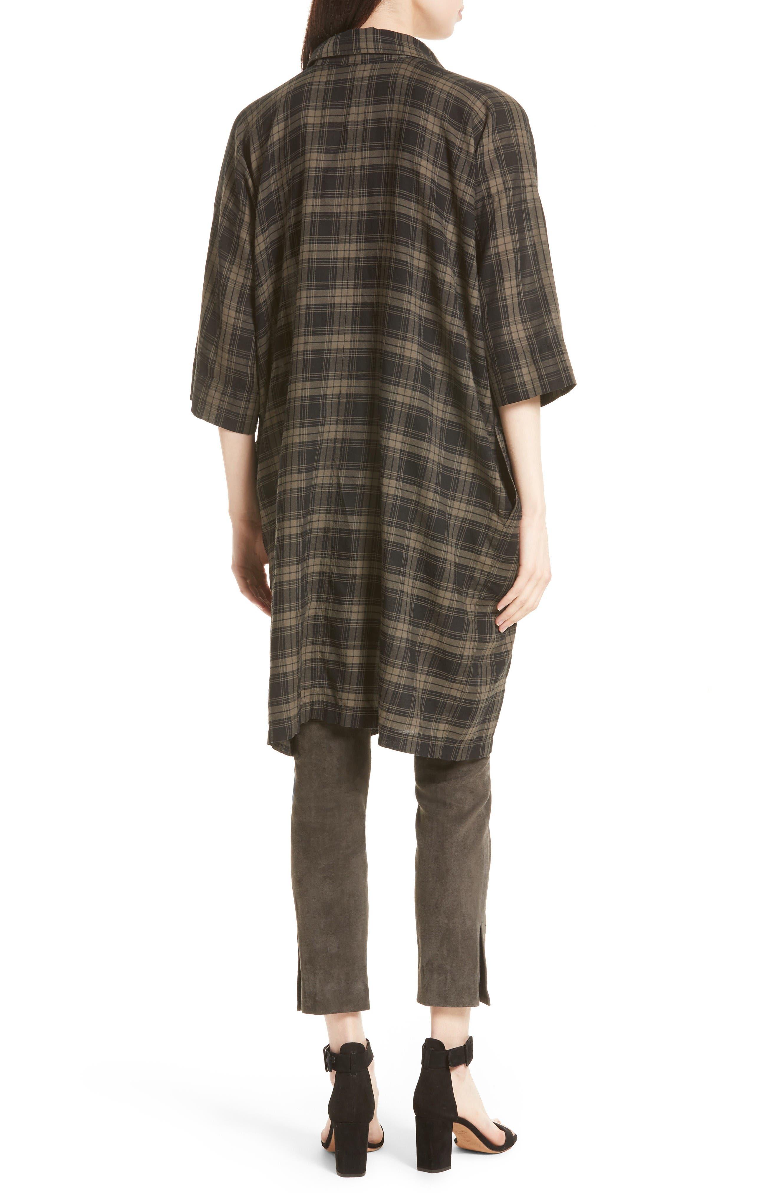 Alternate Image 2  - Vince Plaid Shirtdress