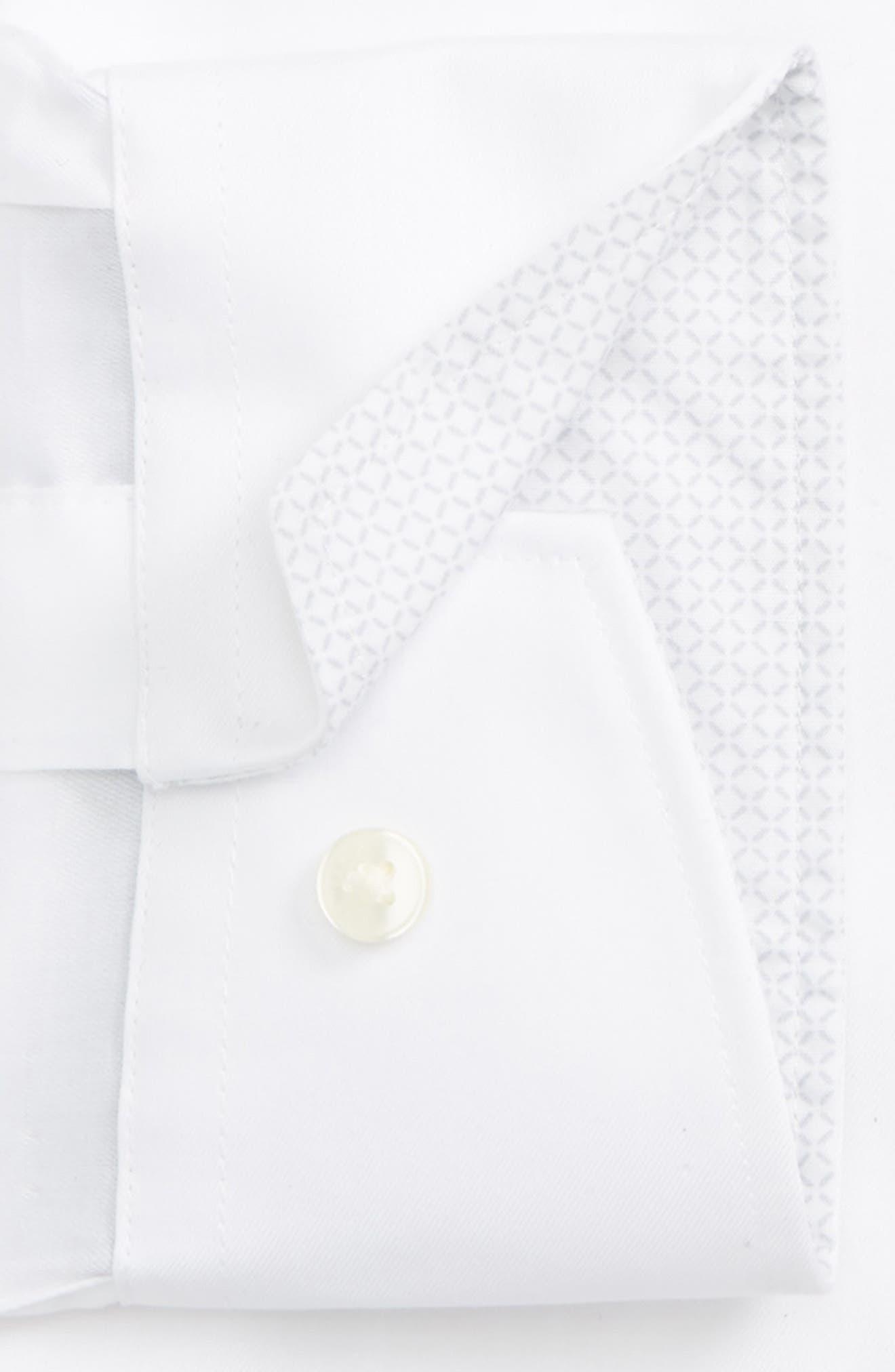 Caramor Trim Fit Solid Dress Shirt,                             Alternate thumbnail 3, color,                             White