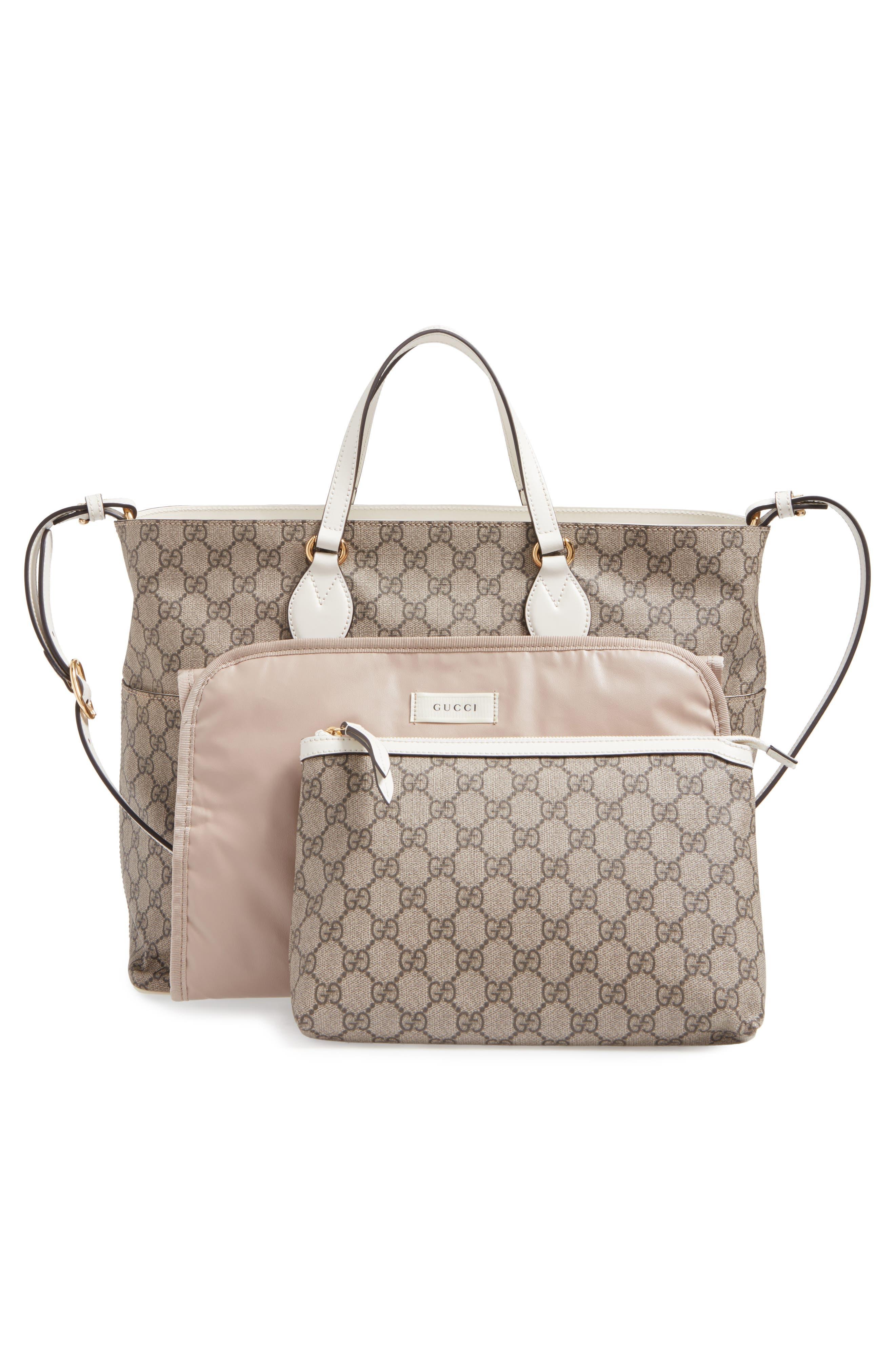 Alternate Image 3  - Gucci Logo Print Diaper Bag
