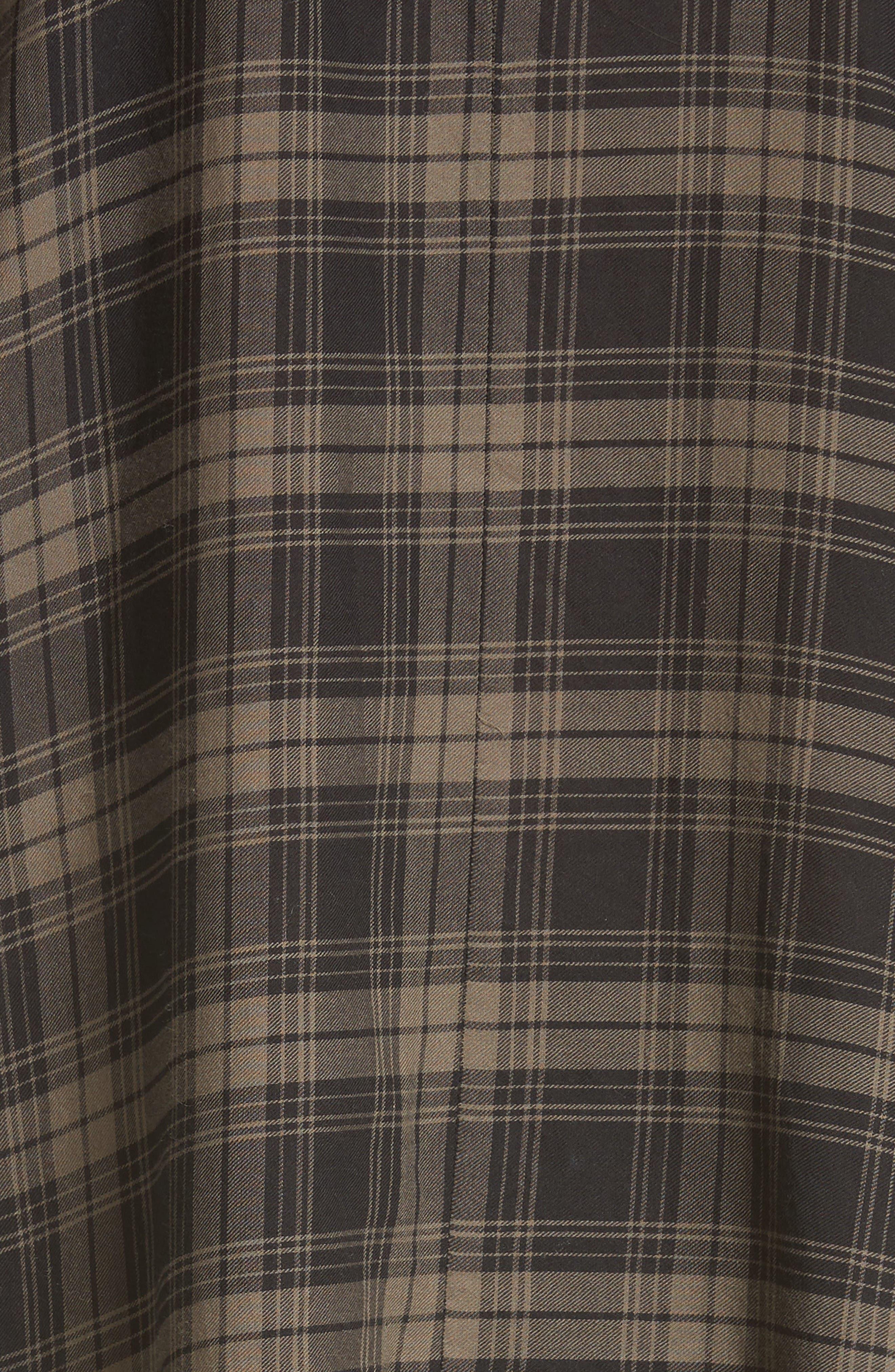 Alternate Image 5  - Vince Plaid Shirtdress