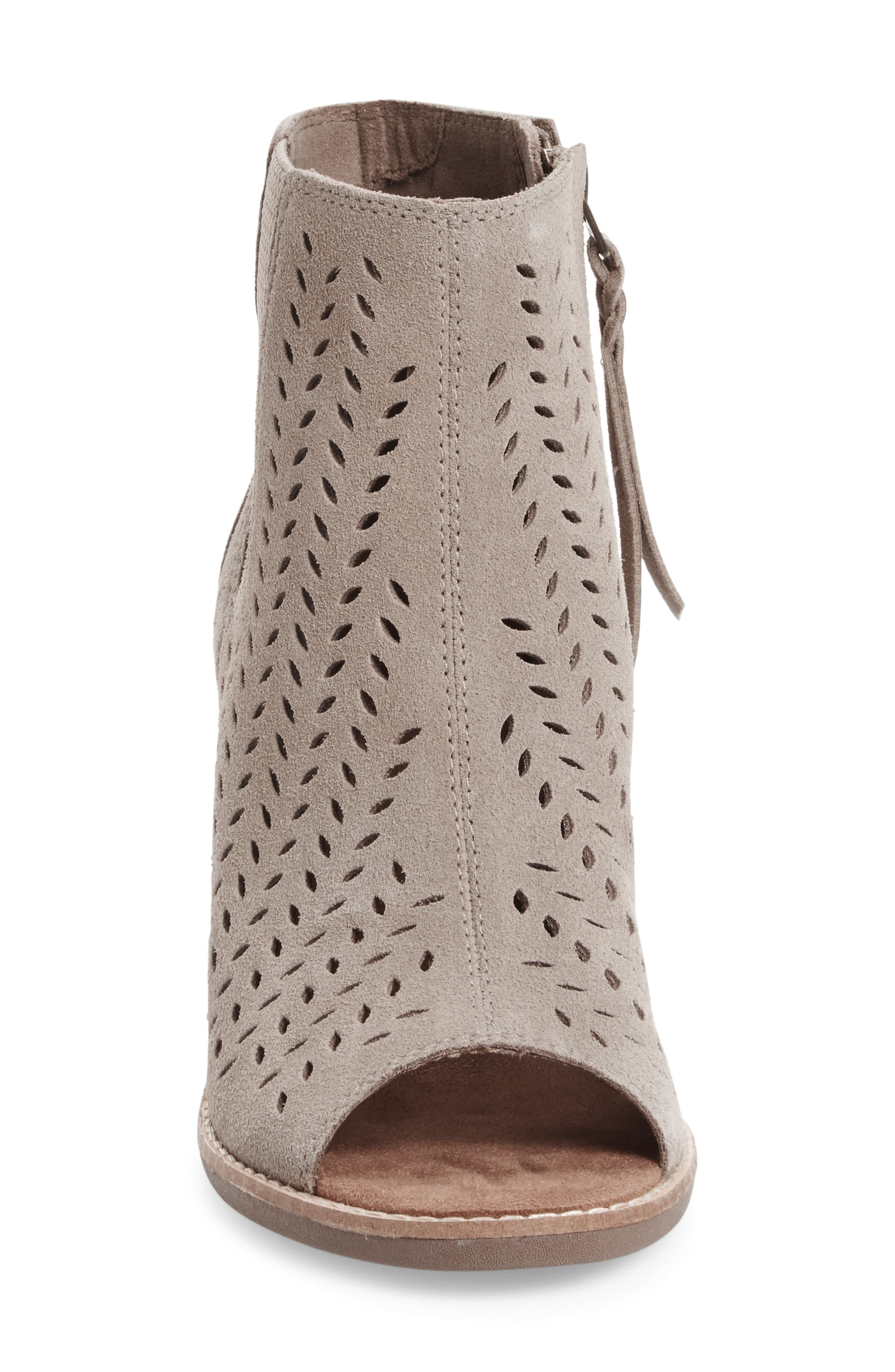Alternate Image 3  - TOMS Majorca Perforated Suede Bootie (Women)