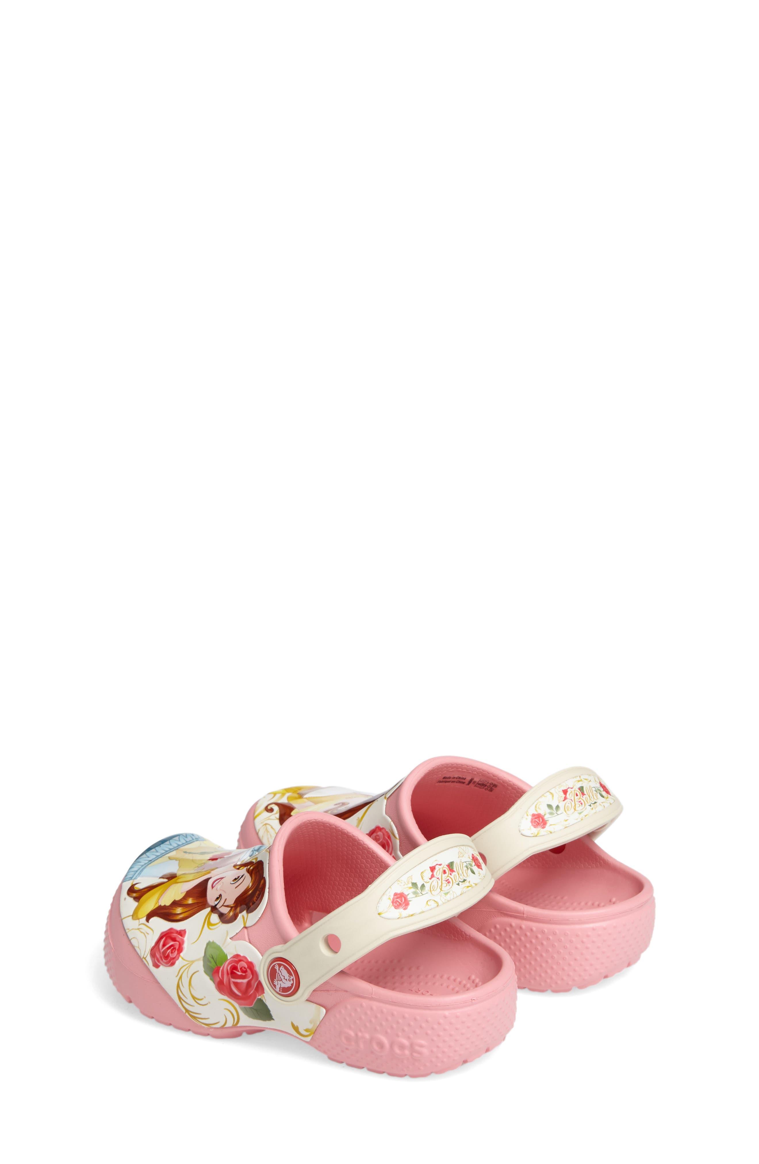 Alternate Image 3  - CROCS™ Fun Lab Disney® Princess Belle Slip-On (Baby, Walker, Toddler & Little Kid)