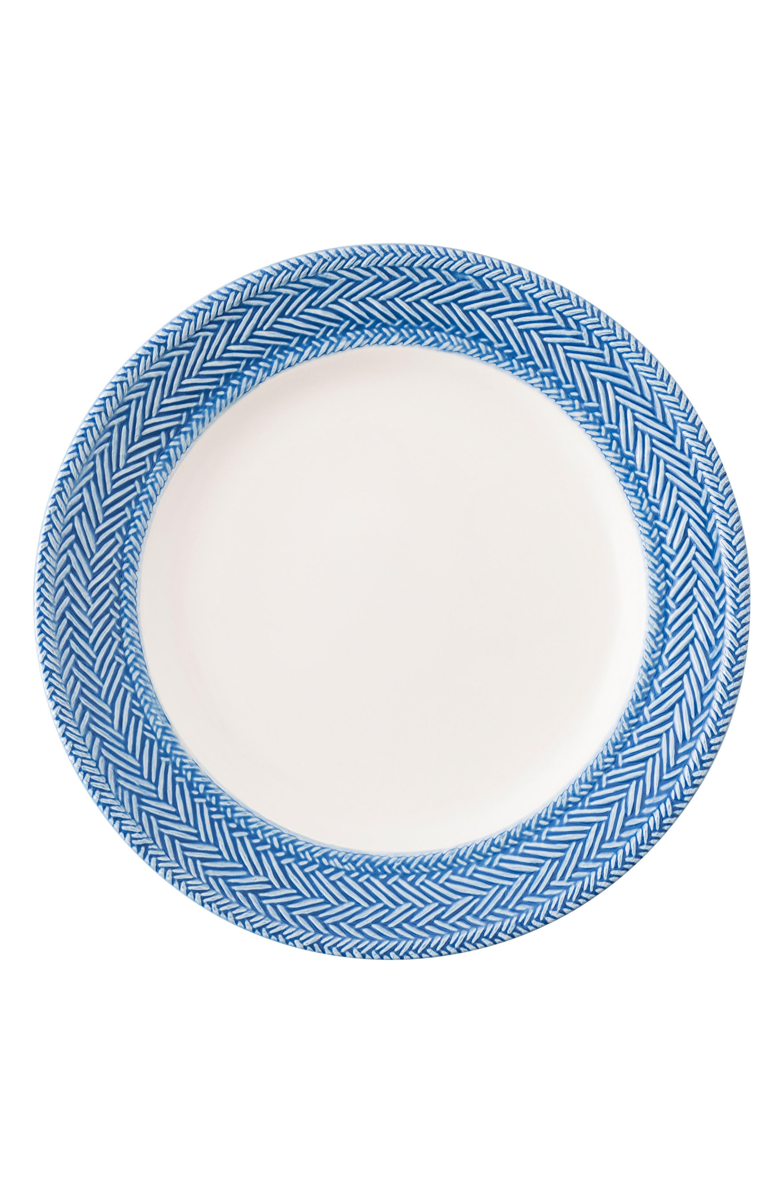 Le Panier Salad Plate,                         Main,                         color, Whitewash/ Delft Blue
