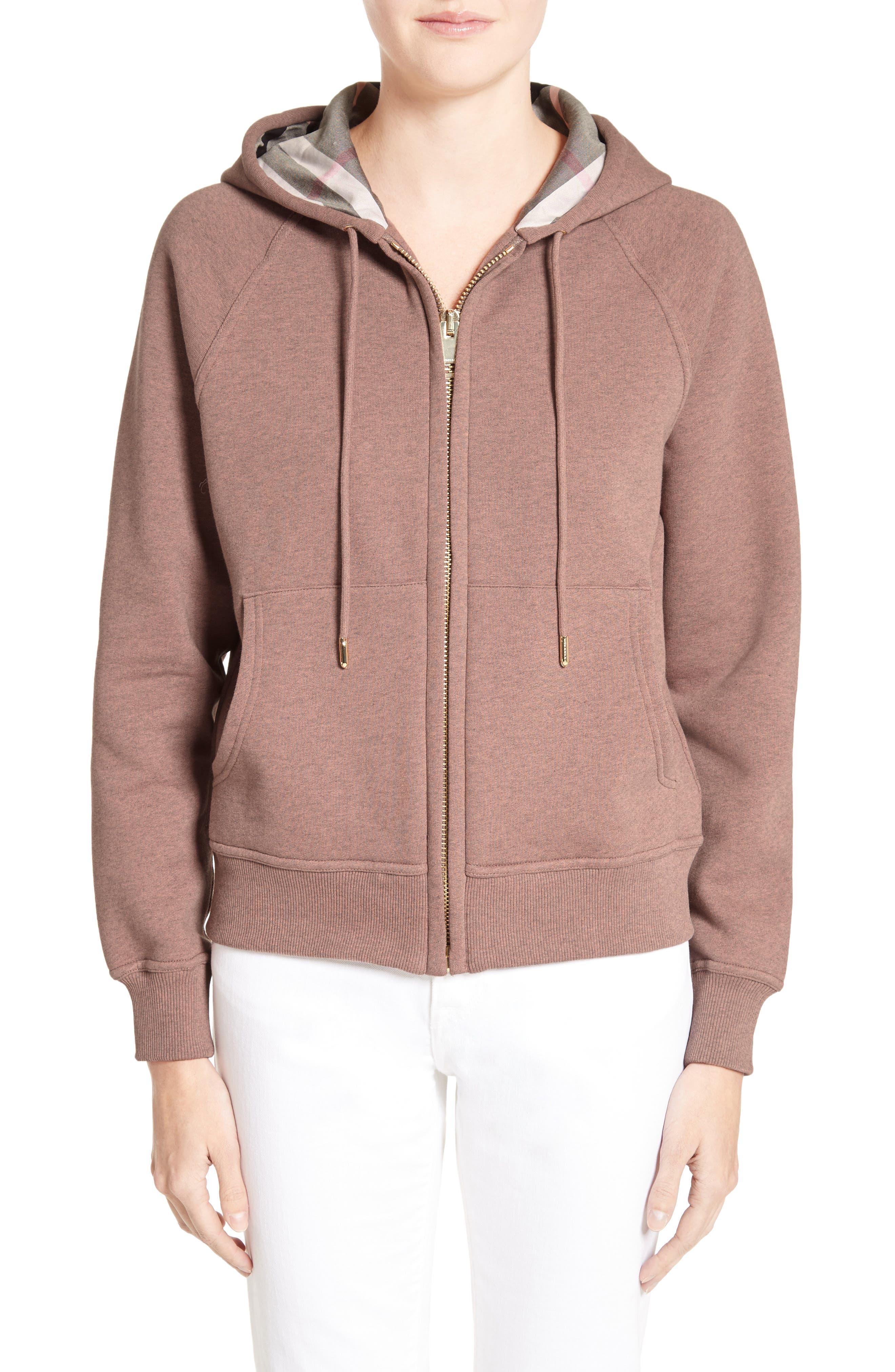 burberry hoodie pink