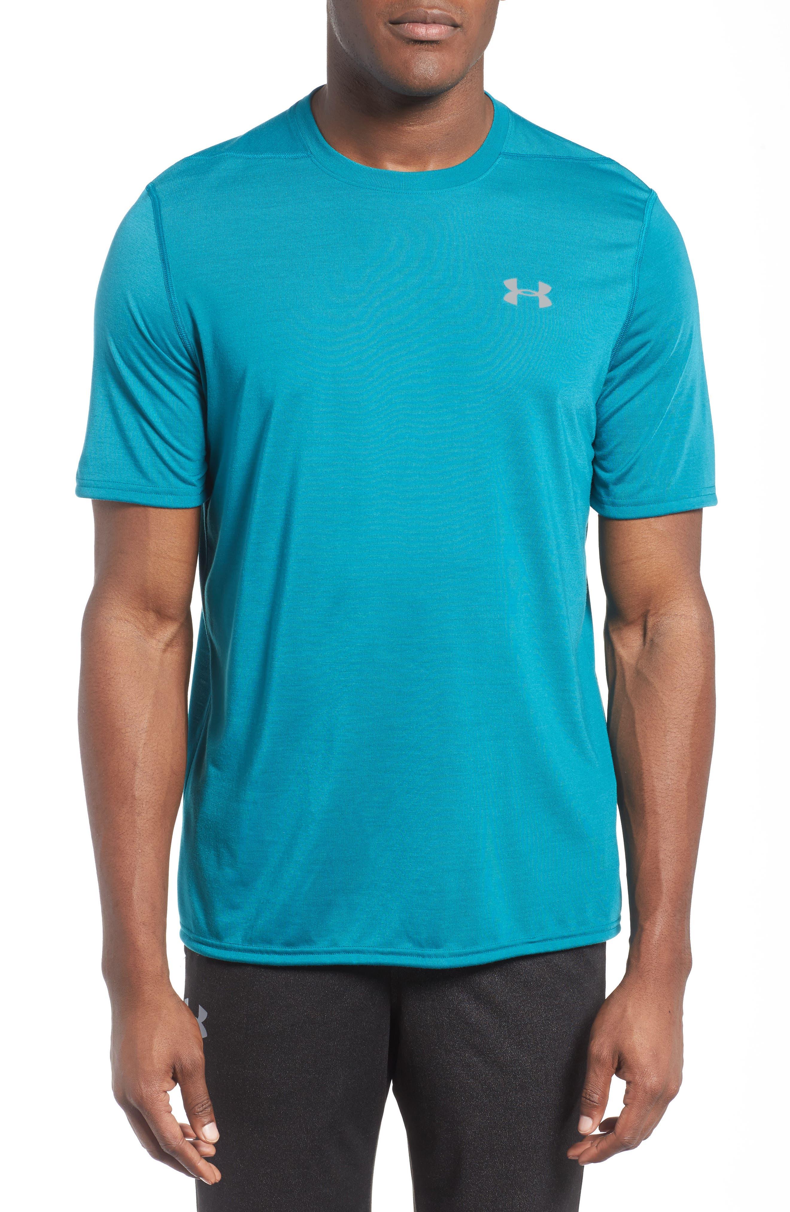 Regular Fit Threadborne T-Shirt,                         Main,                         color, Turquoise Sky