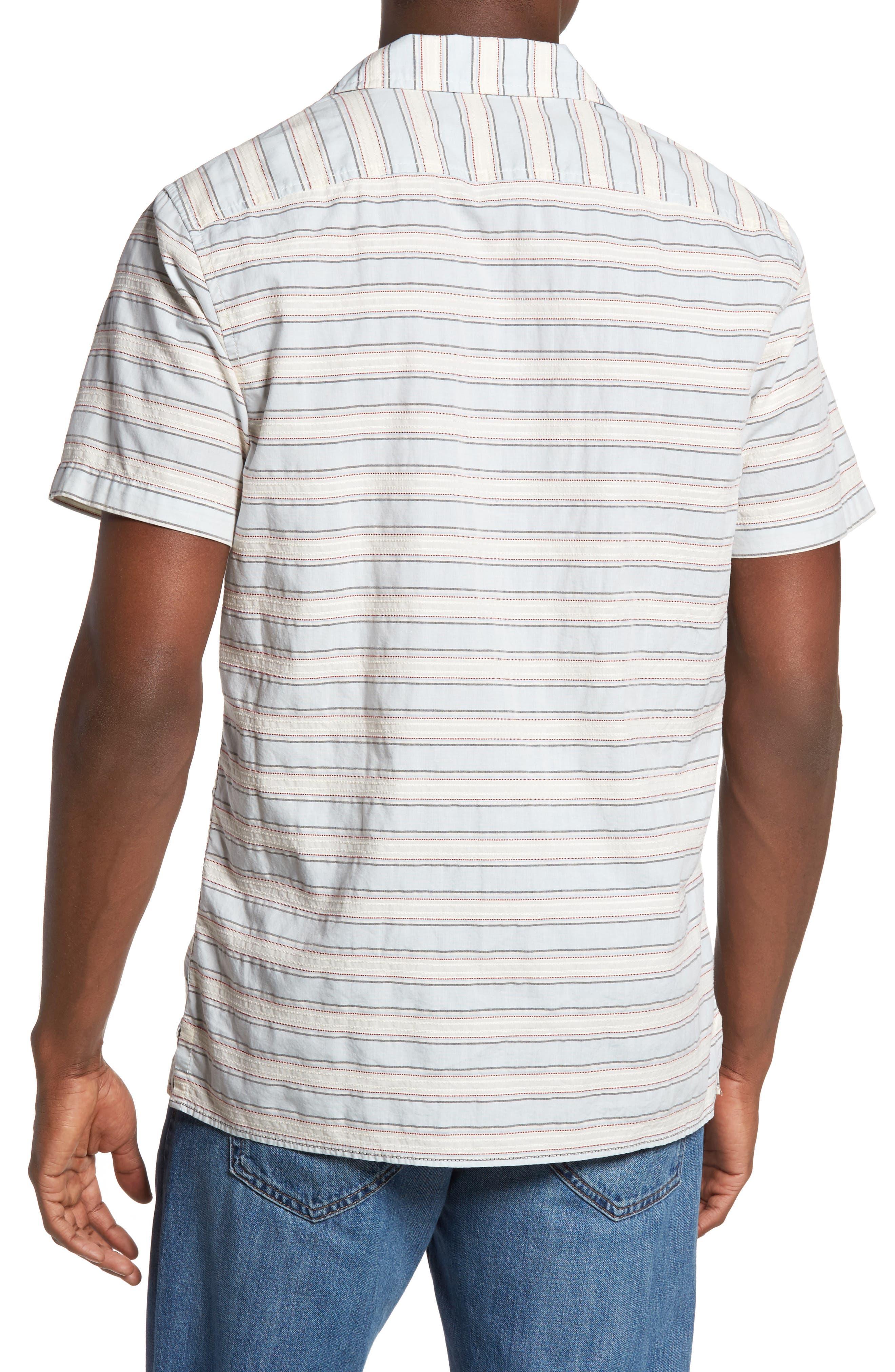 Alternate Image 2  - 1901 Jacquard Stripe Camp Shirt