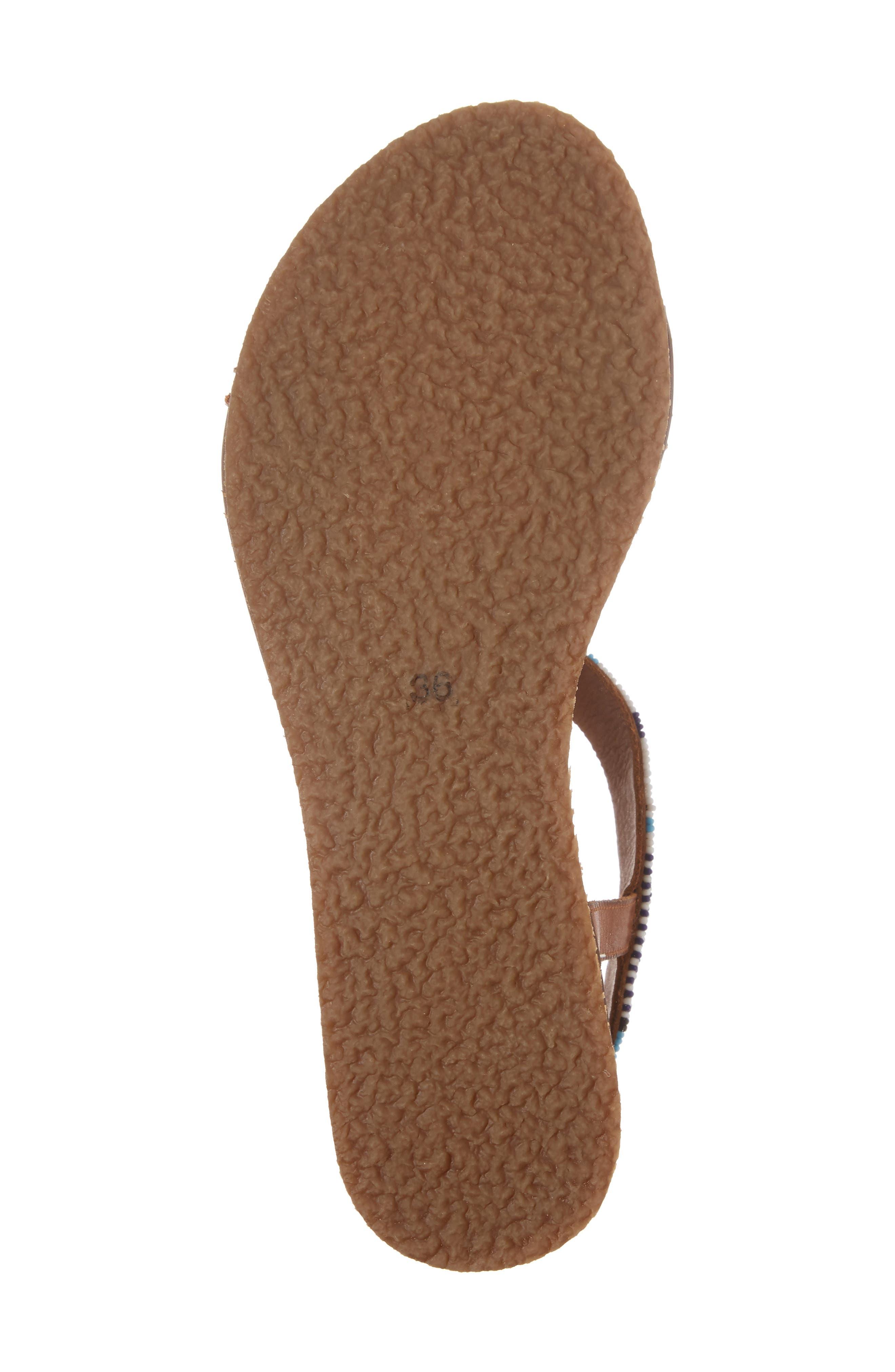 Antillas Beaded Sandal,                             Alternate thumbnail 5, color,                             Brandy Leather