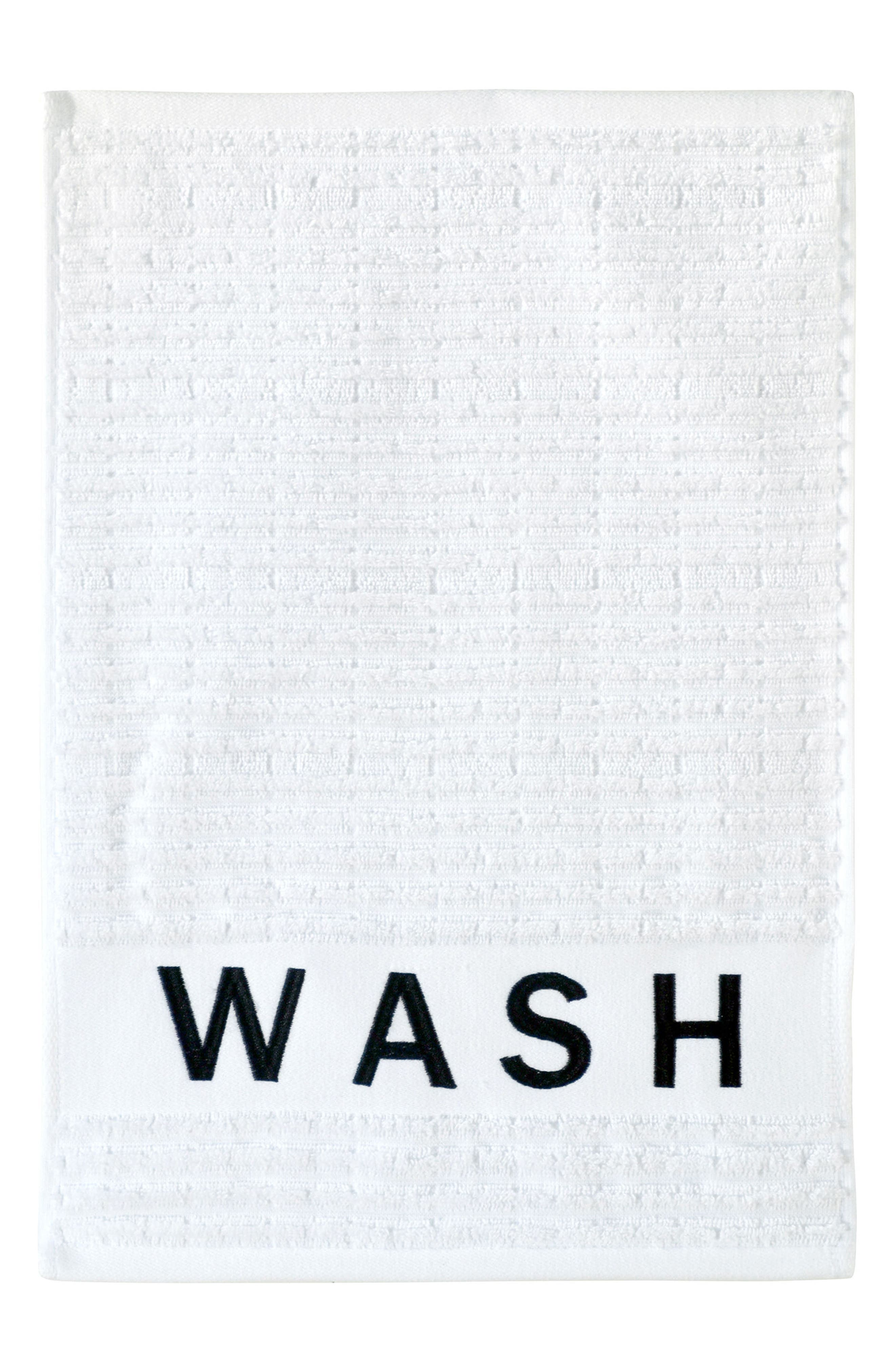 Chatter Set of 3 Towels,                             Alternate thumbnail 2, color,                             White