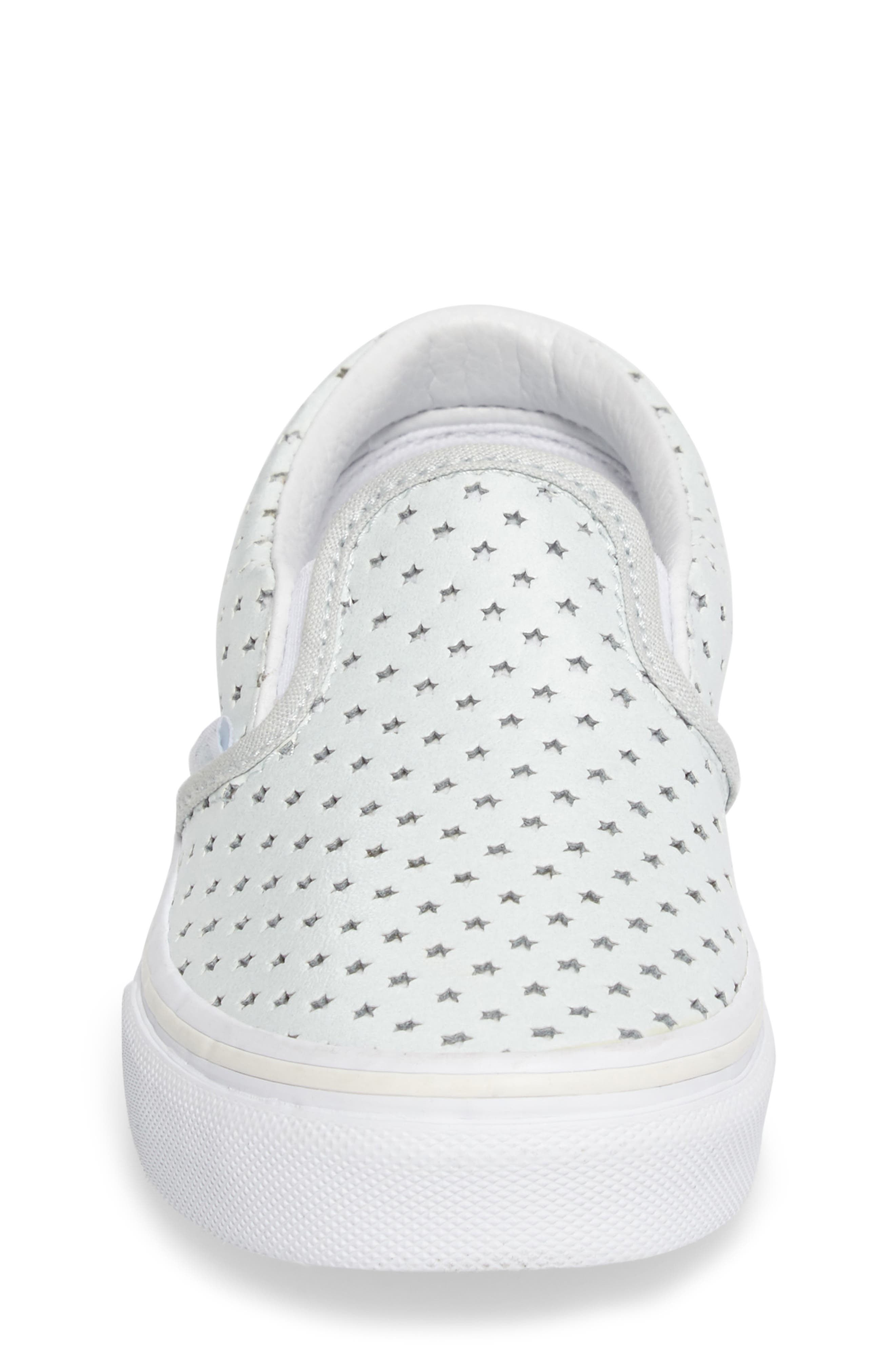 Classic Perforated Slip-On Sneaker,                             Alternate thumbnail 5, color,                             Stars Pearlized Leather
