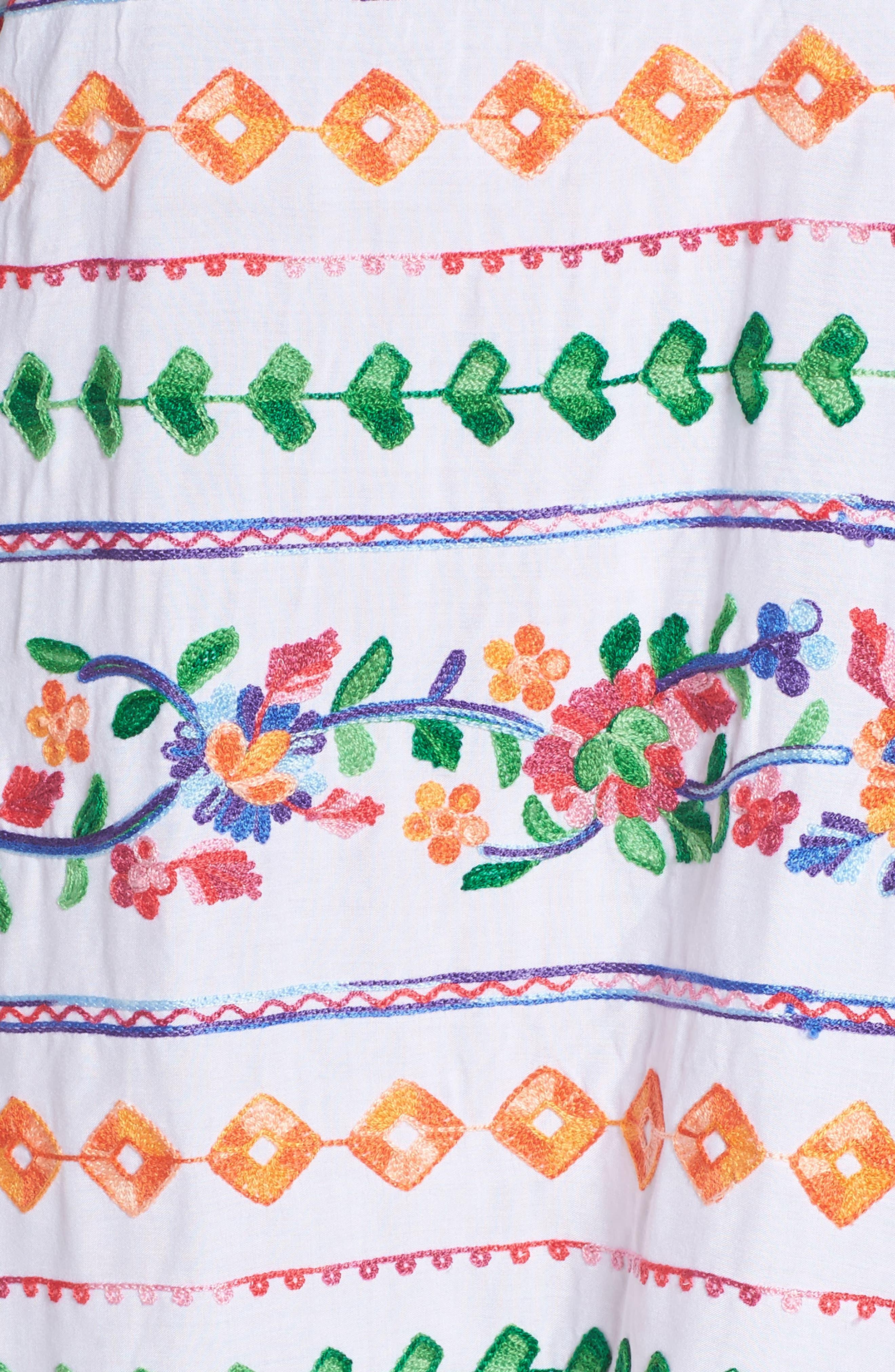 Eden Cover-Up Dress,                             Alternate thumbnail 5, color,                             Coral Multi