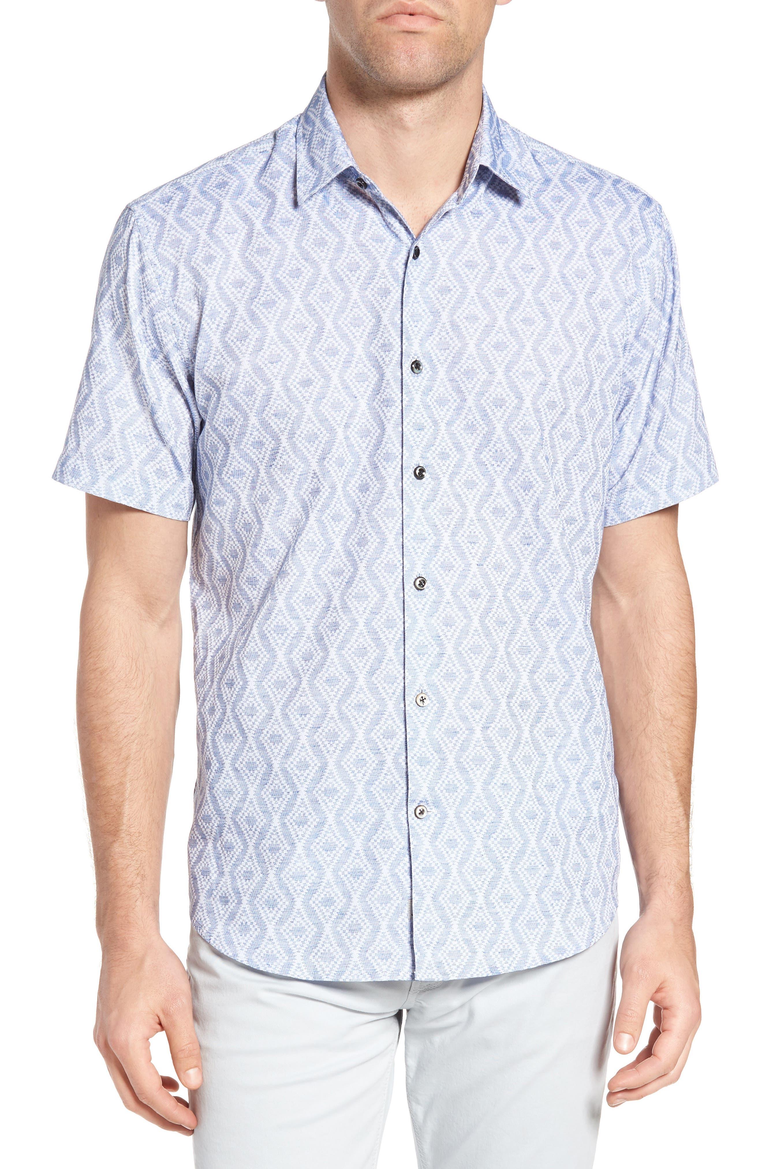 James Campbell Print Sport Shirt