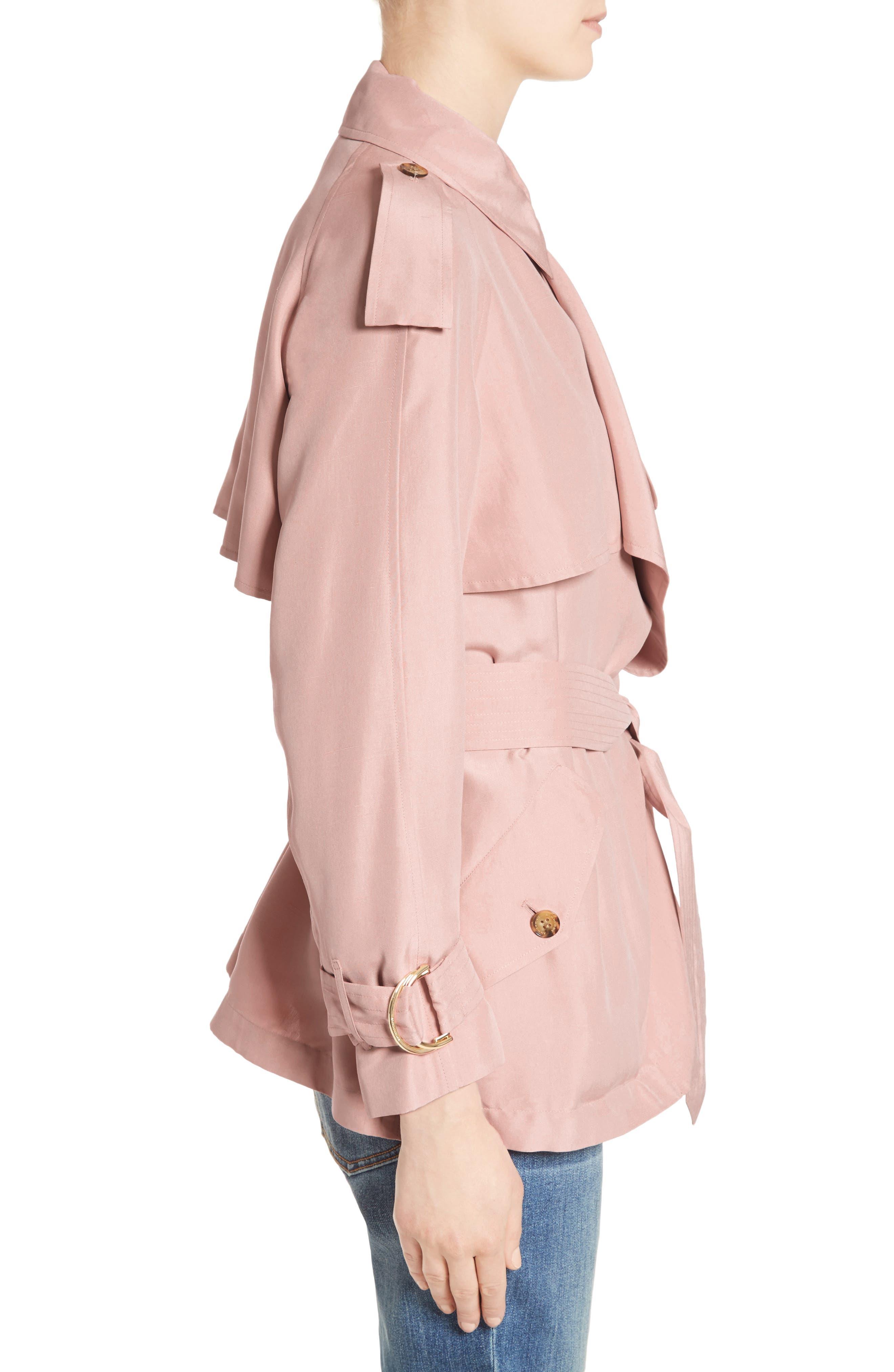 Alternate Image 5  - Burberry Sanbridge Silk Wrap Coat