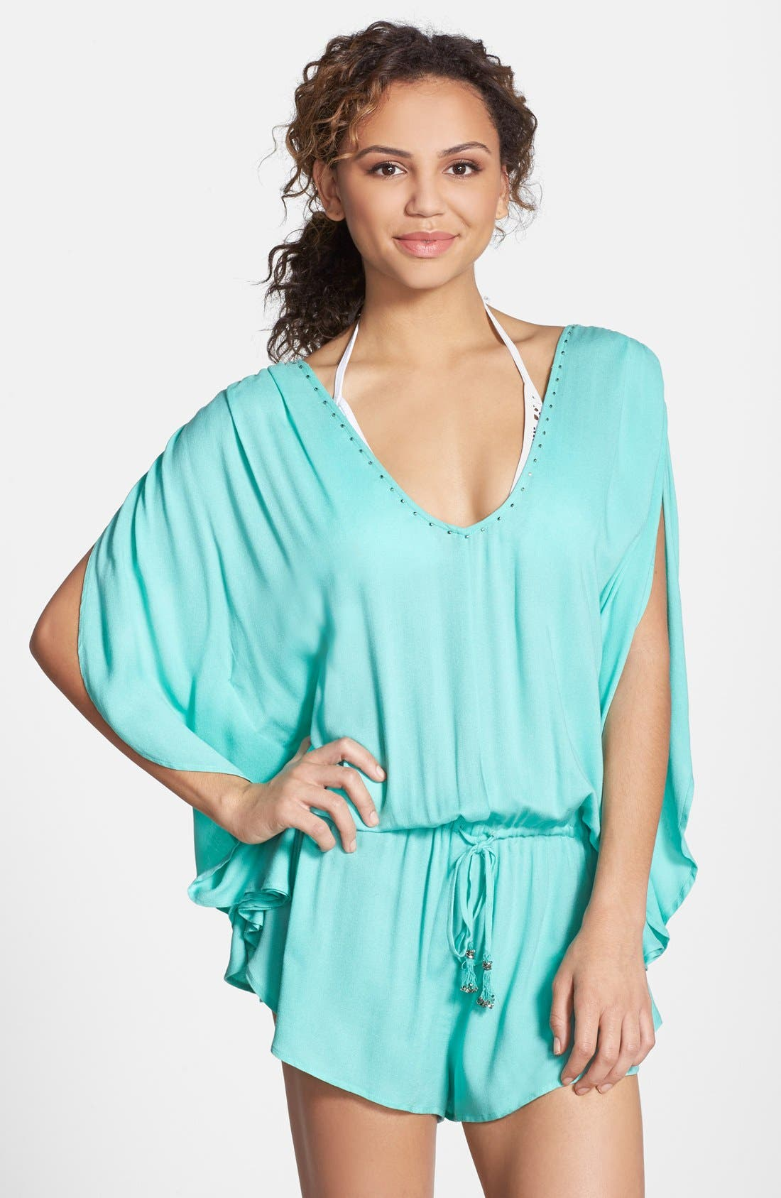 Alternate Image 1 Selected - Seafolly Flowing Cover-Up Romper
