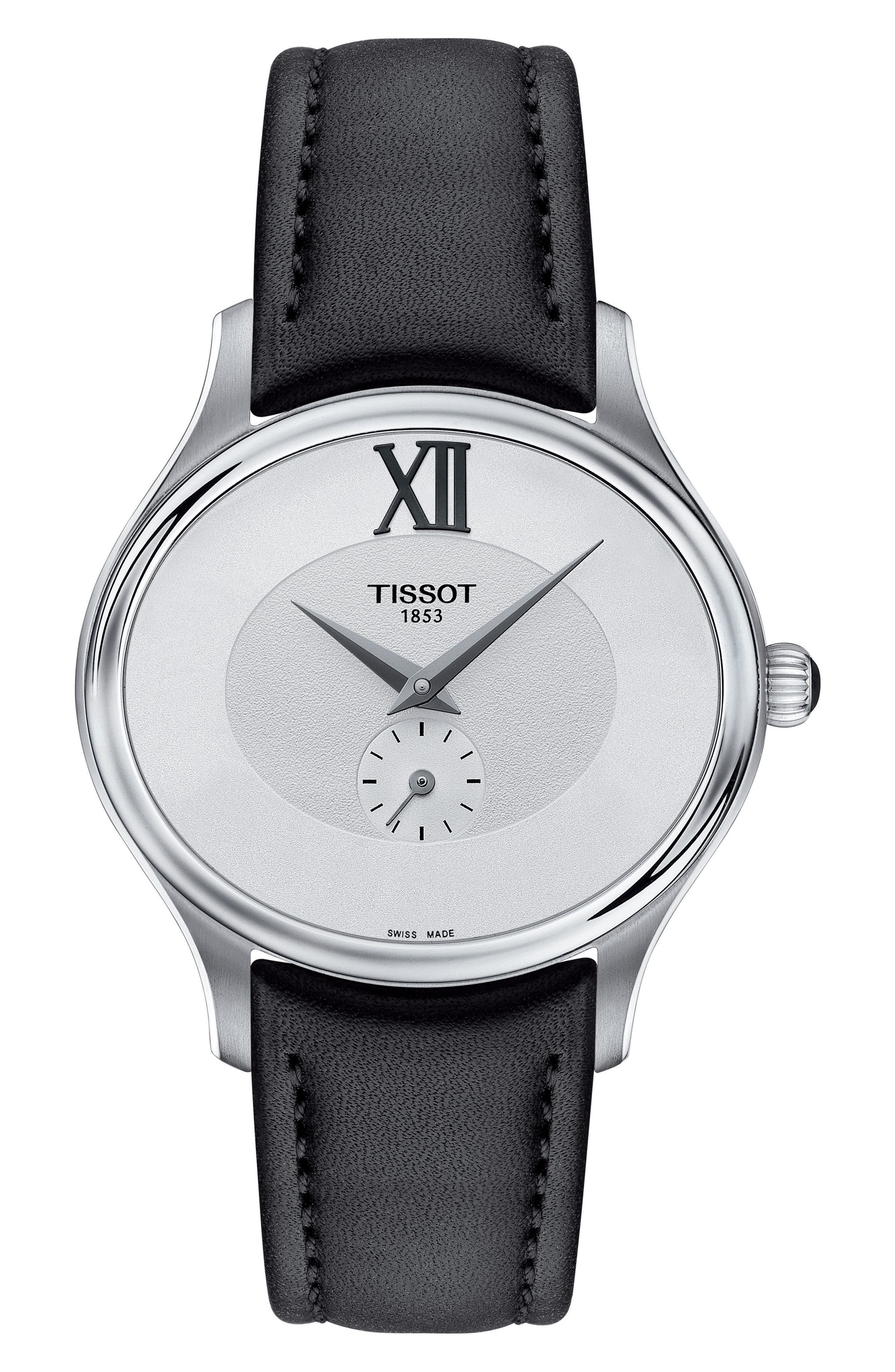 TISSOT Bella Ora Leather Strap Watch, 28mm