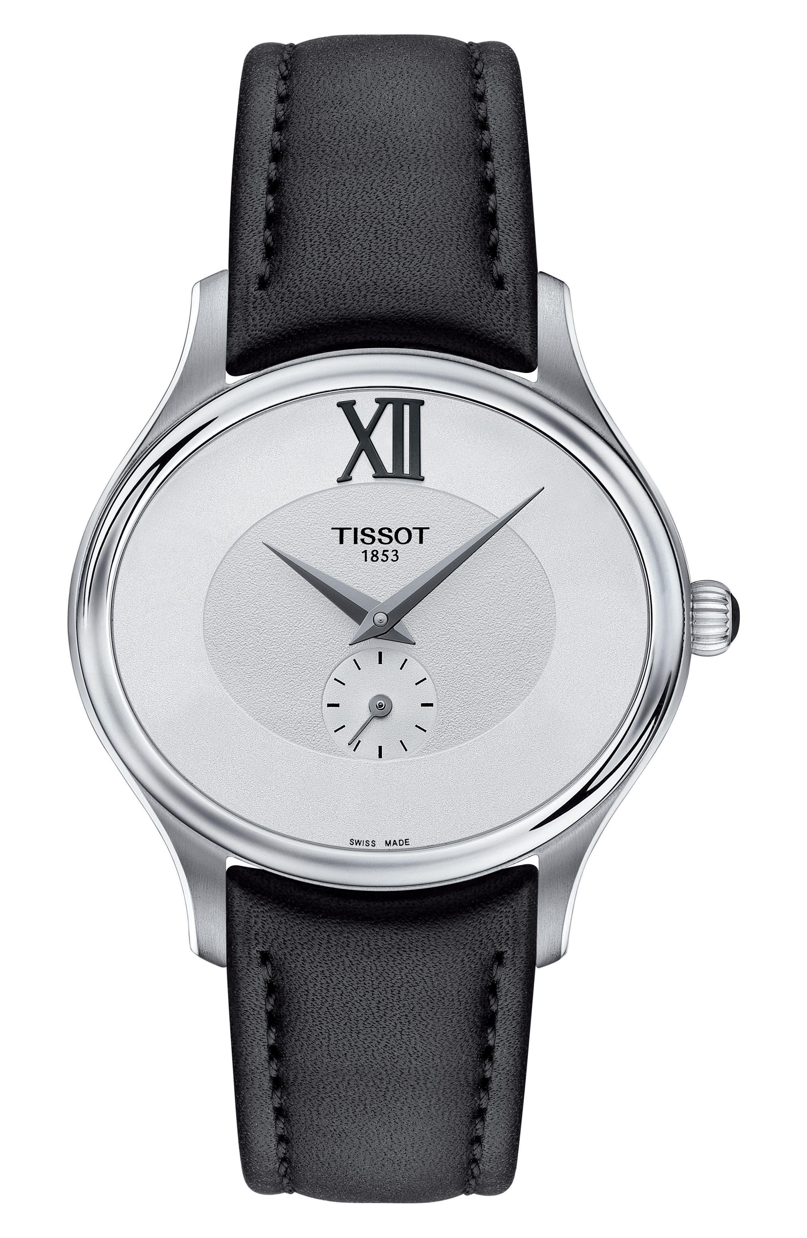 Tissot Bella Ora Leather Strap Watch, 28mm