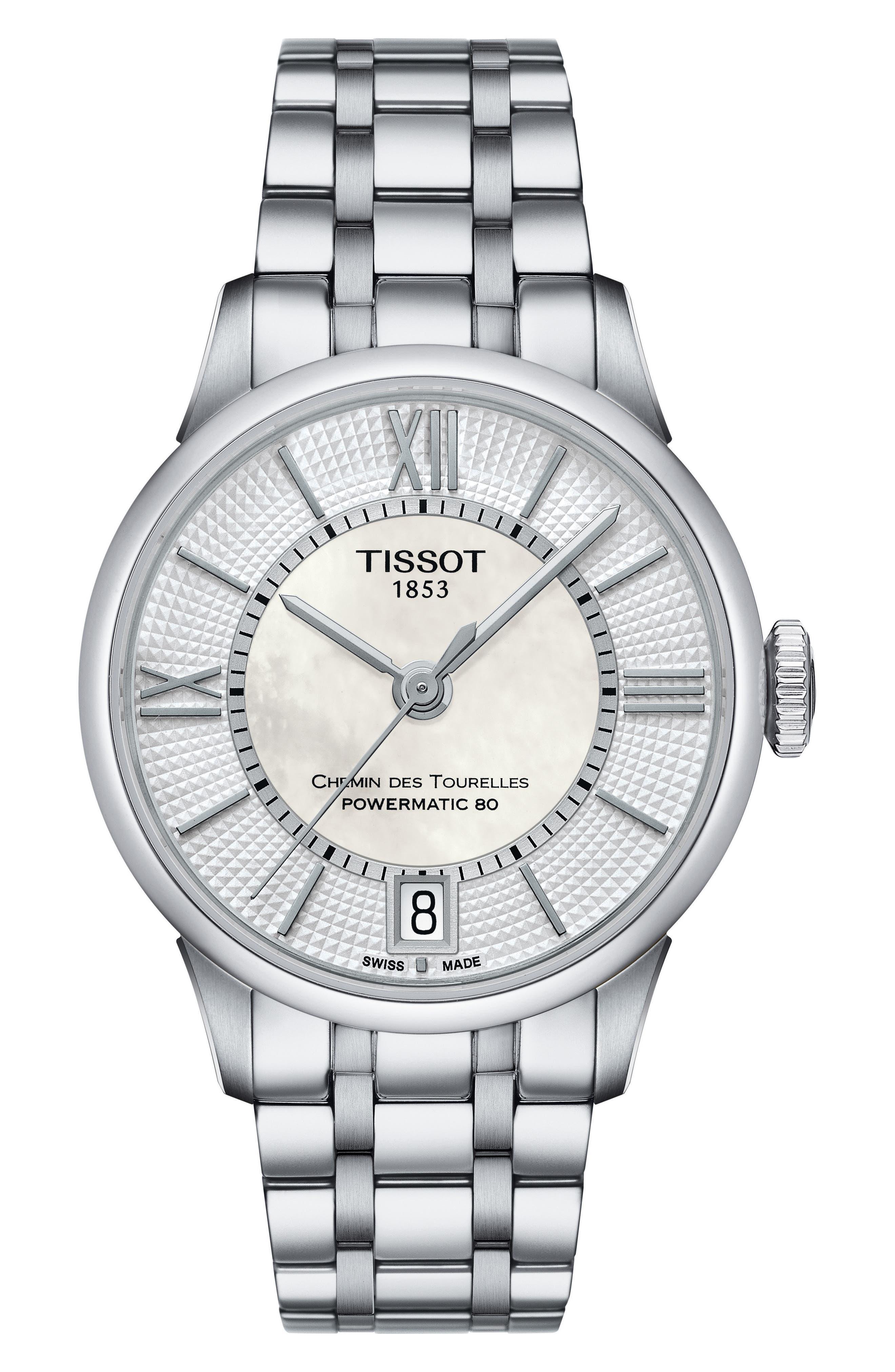 Alternate Image 1 Selected - Tissot Chemin Des Tourelles Automatic Bracelet Watch, 32mm