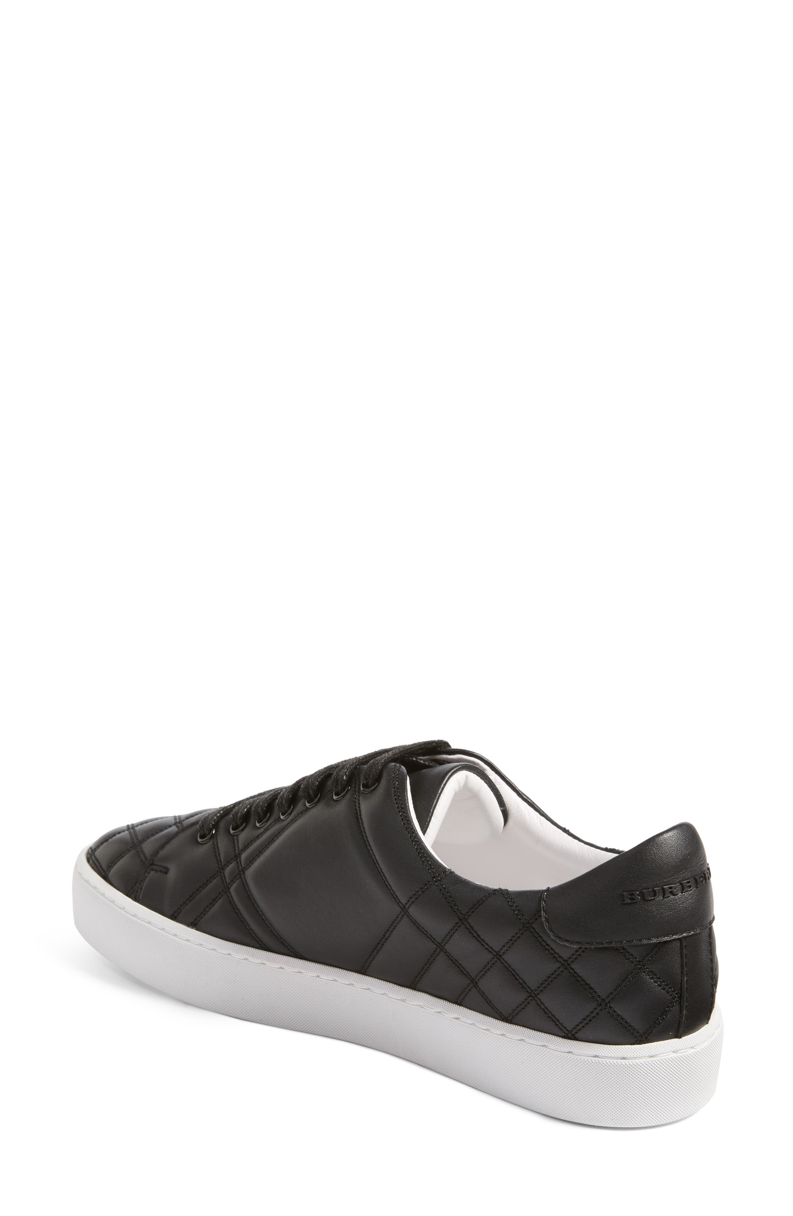 Alternate Image 2  - Burberry Check Quilted Leather Sneaker (Women)