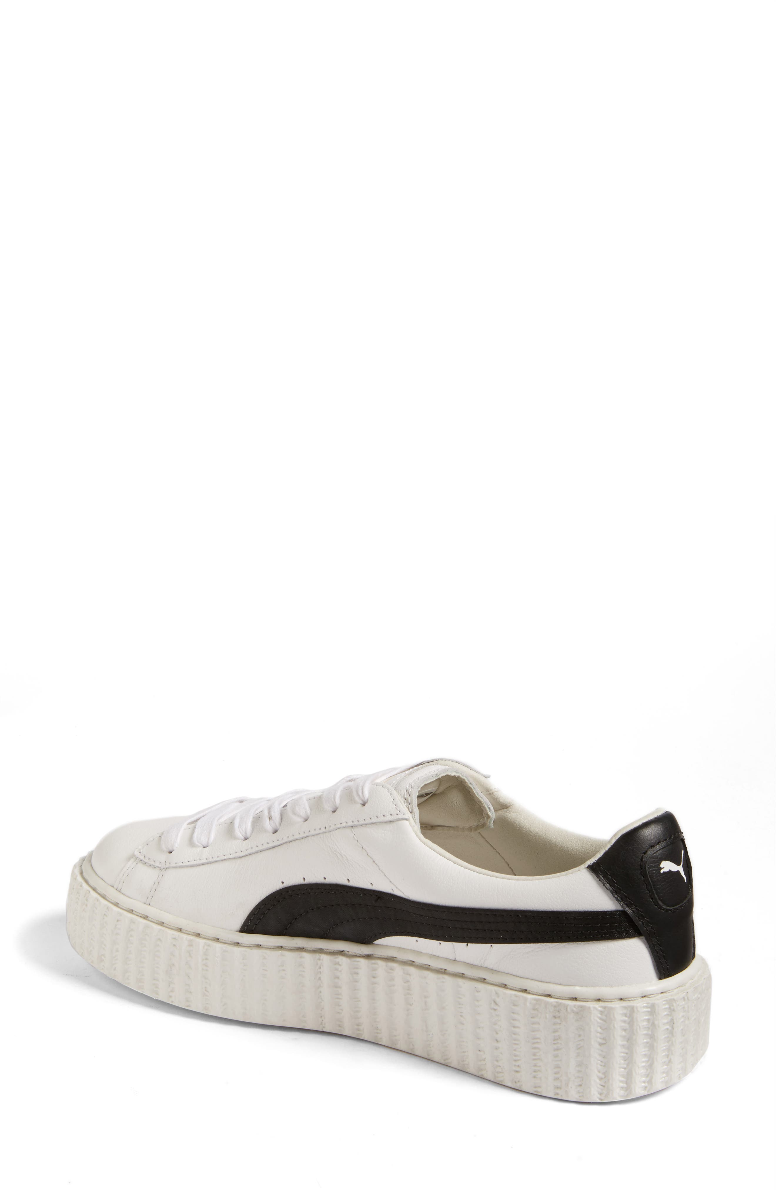 FENTY PUMA by Rihanna Creeper Sneaker,                             Alternate thumbnail 2, color,                             White Leather