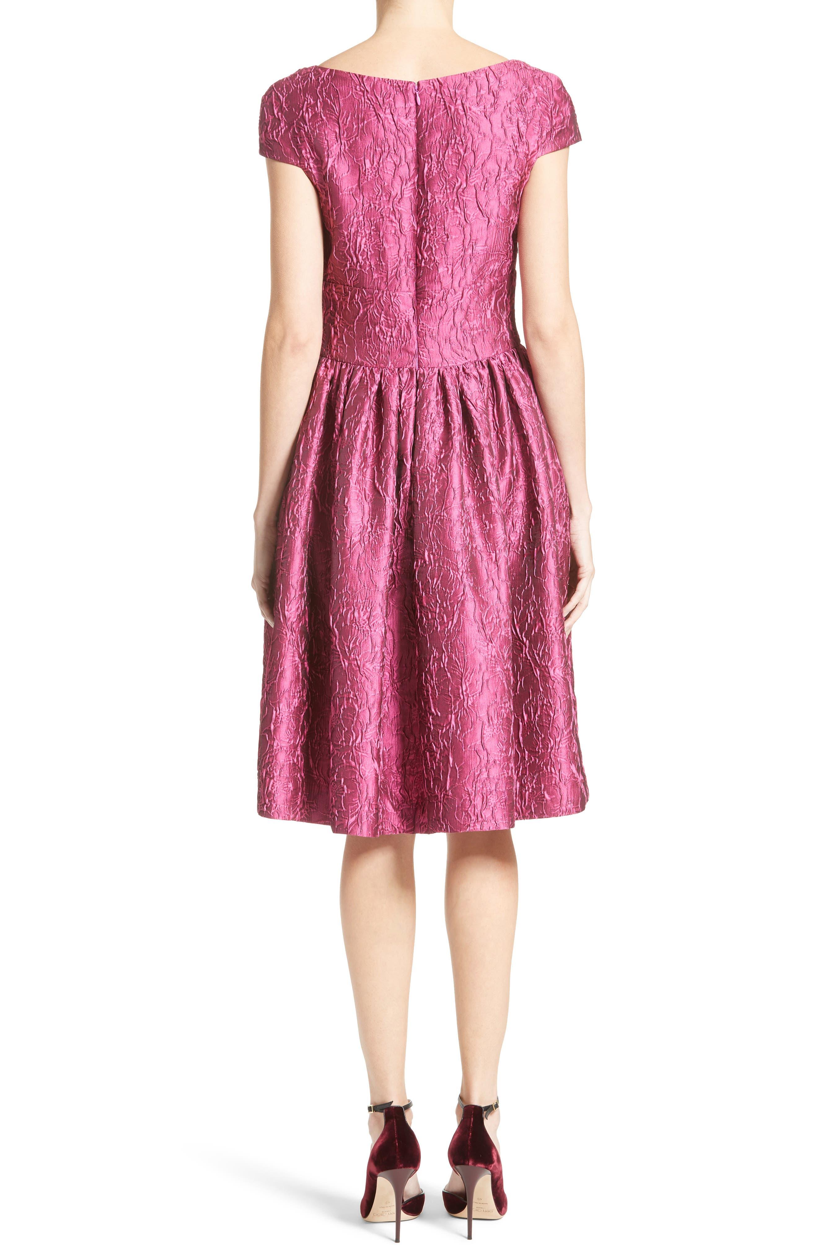 Alternate Image 2  - Badgley Mischka Couture Cap Sleeve Brocade Party Dress (Nordstrom Exclusive)