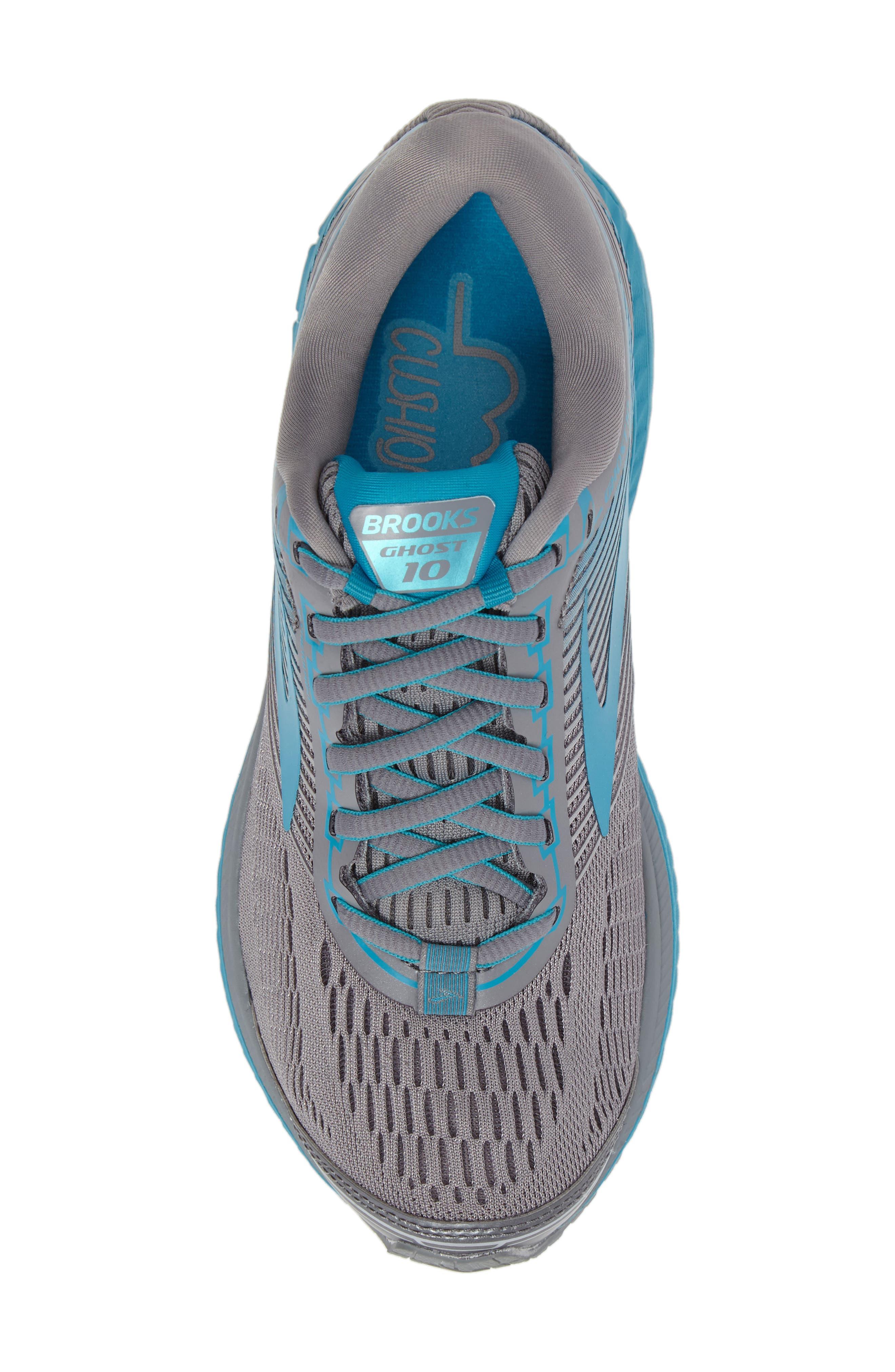Ghost 10 Running Shoe,                             Alternate thumbnail 5, color,                             Primer Grey/ Teal/ Silver