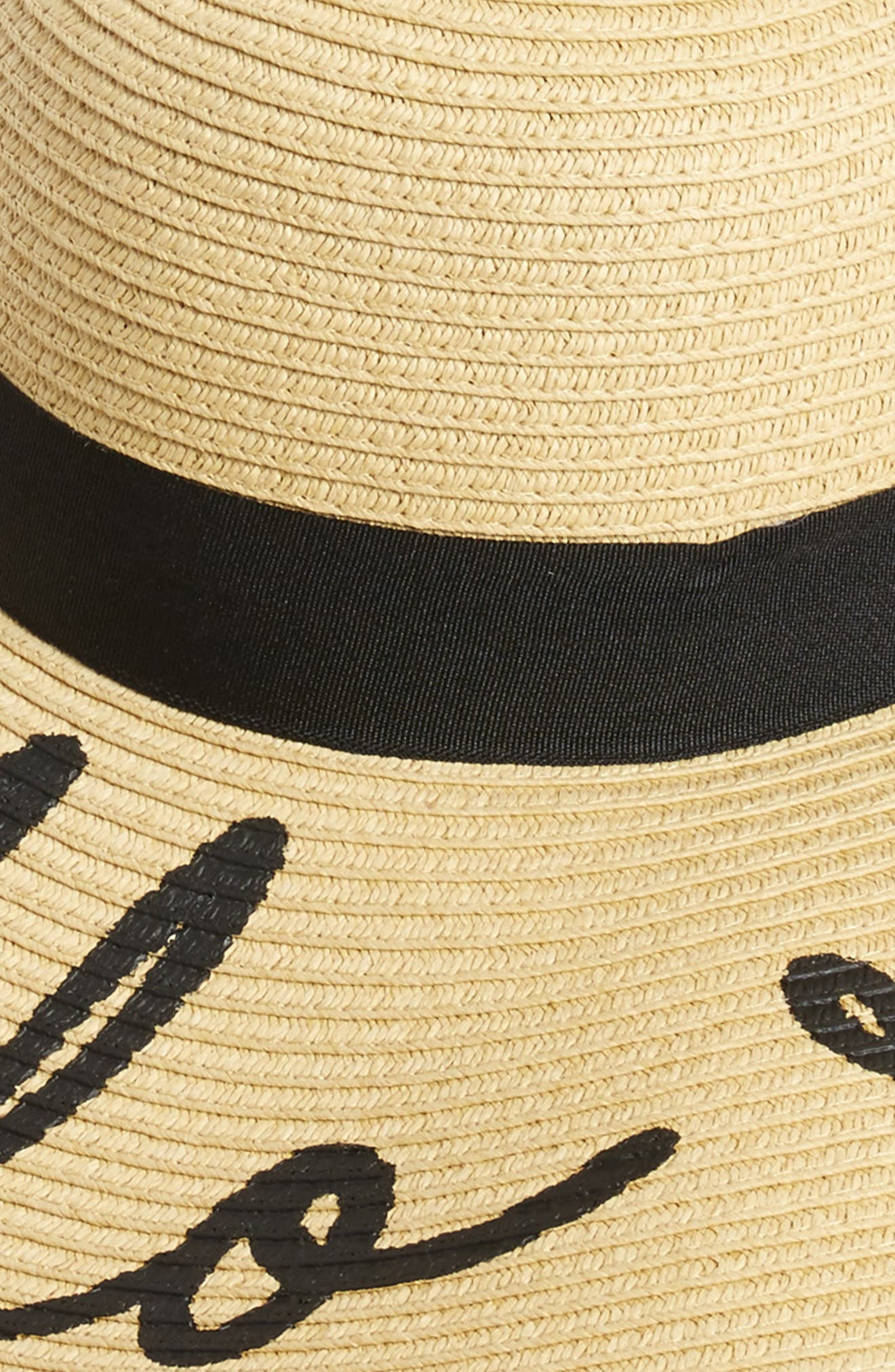 Alternate Image 2  - BP. Hello Summer Floppy Straw Hat