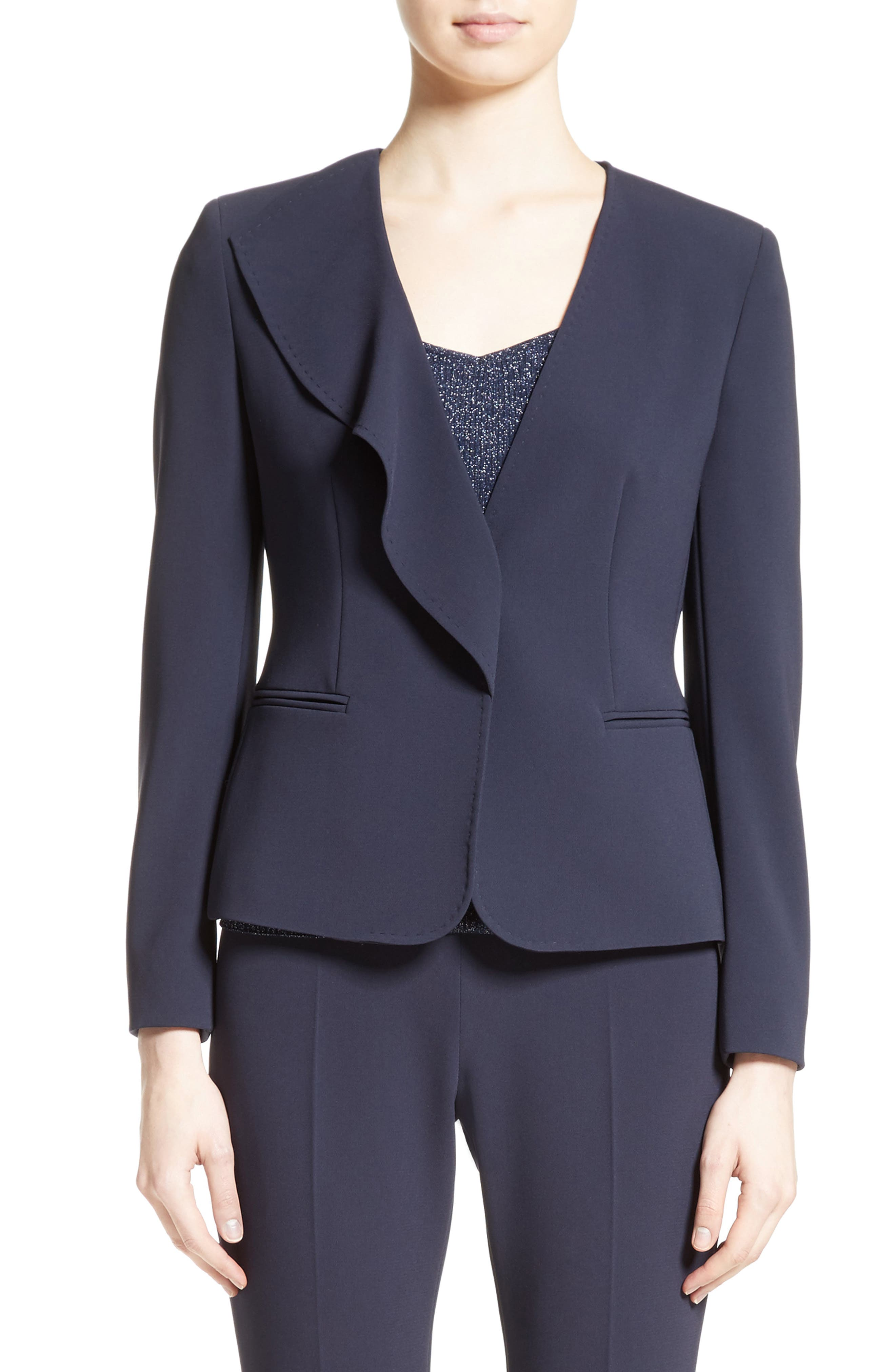Alternate Image 1 Selected - Max Mara Durata Ruffle Blazer