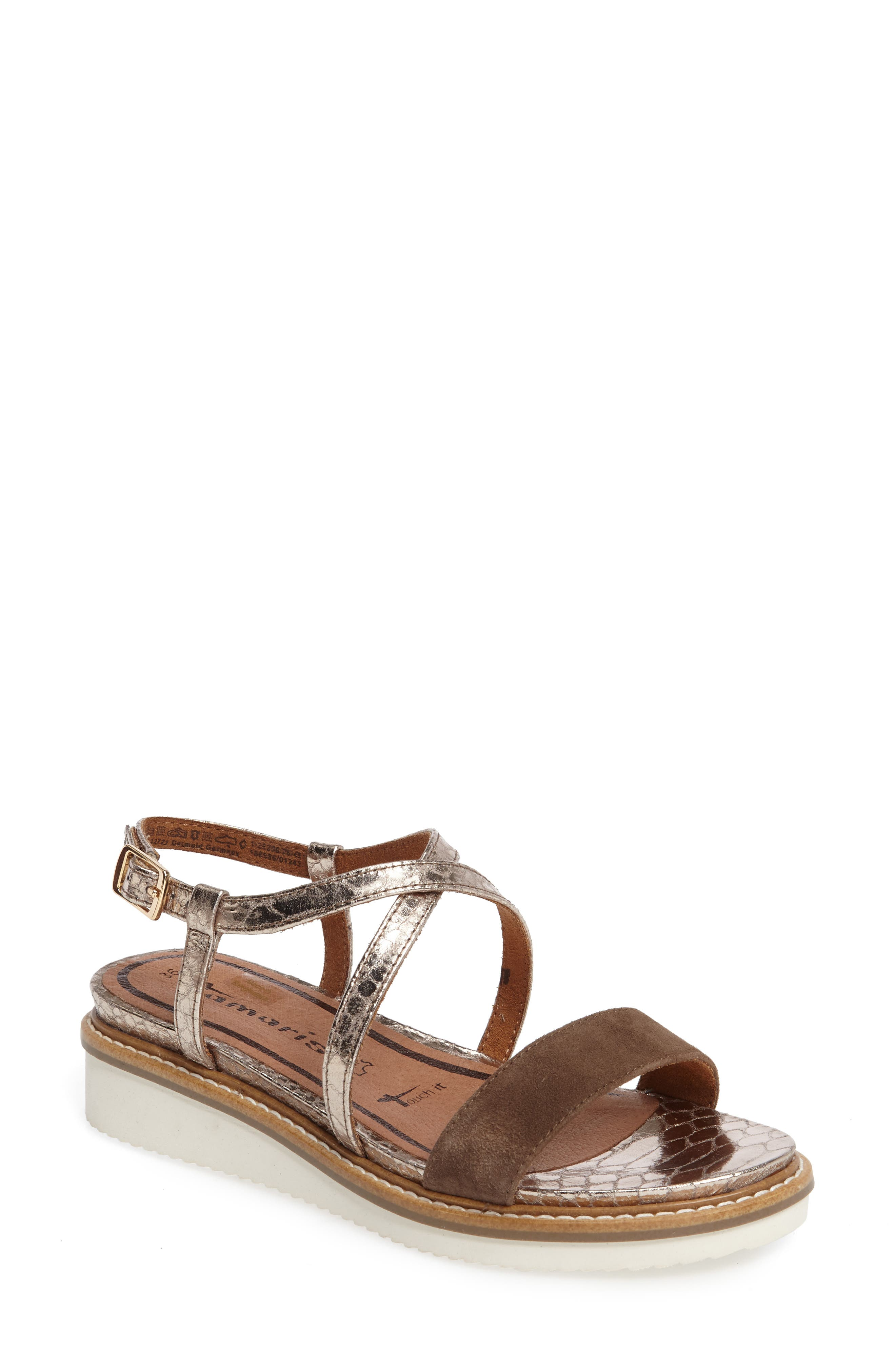 Tamaris 'Eda' Platform Wedge Sandal (Women)