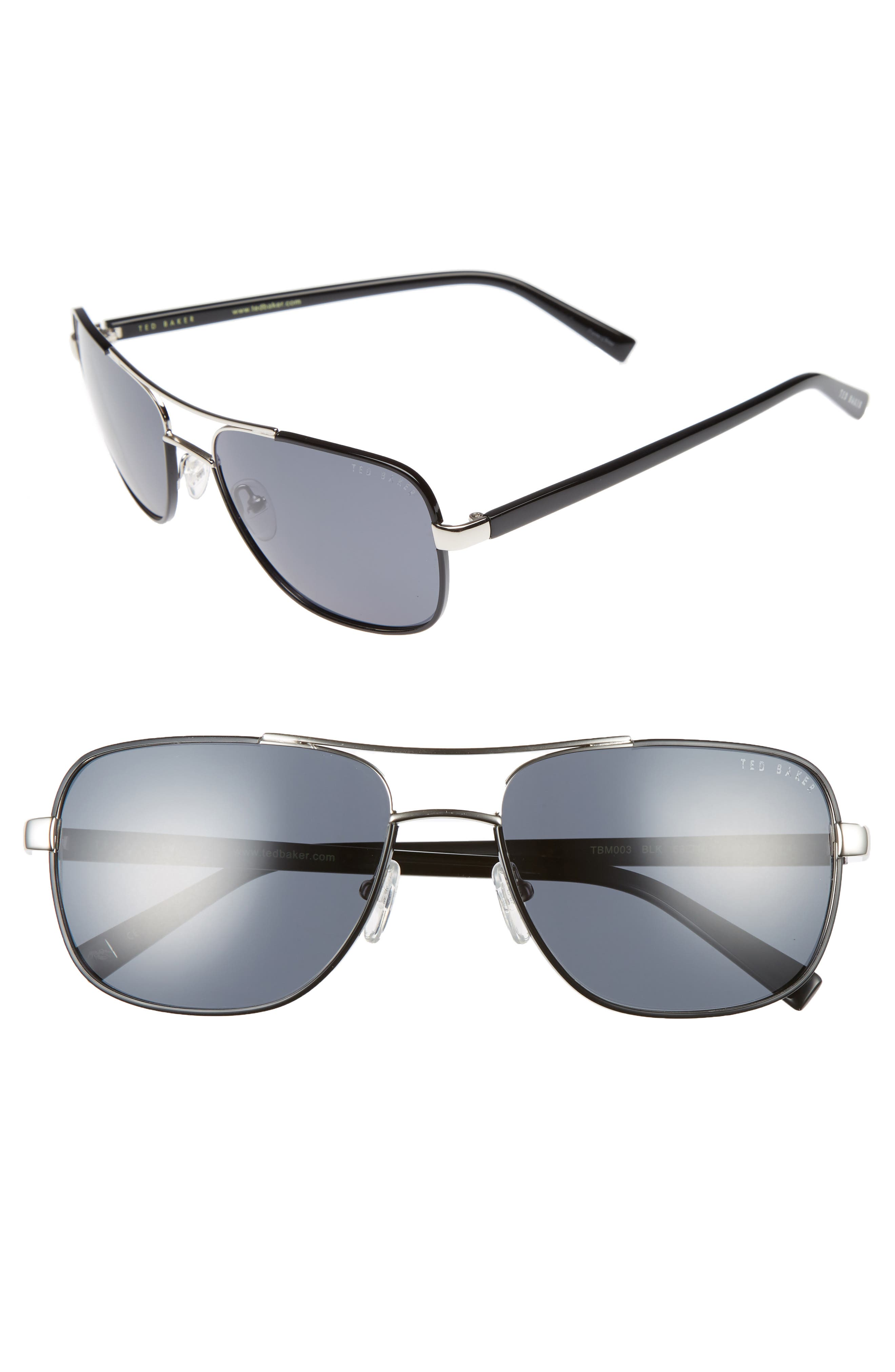 Main Image - Ted Baker London 59mm Polarized Navigator Sunglasses
