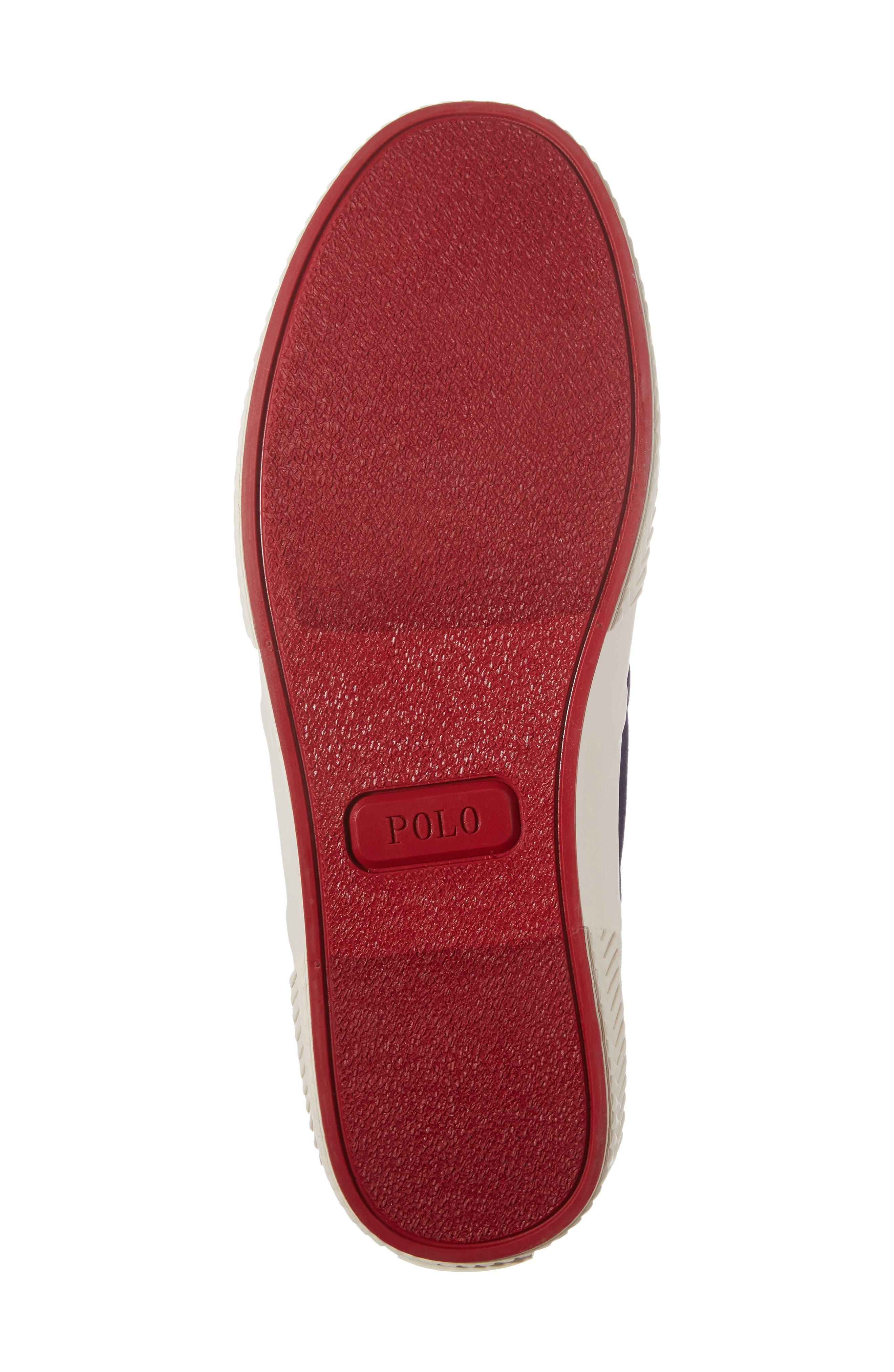 Polo Ralph Lauren Tyrian Sneaker,                             Alternate thumbnail 6, color,                             Newport Navy