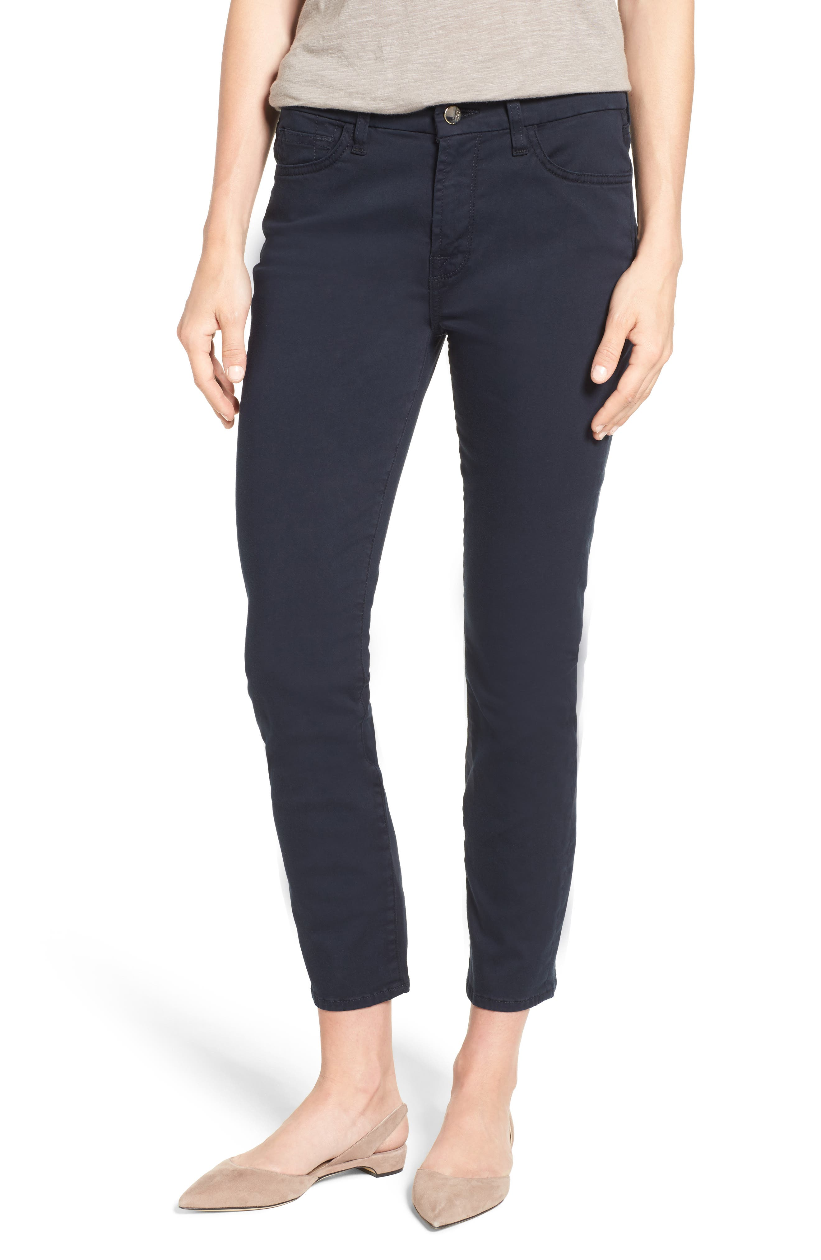Jen7 Colored Stretch Ankle Skinny Jeans