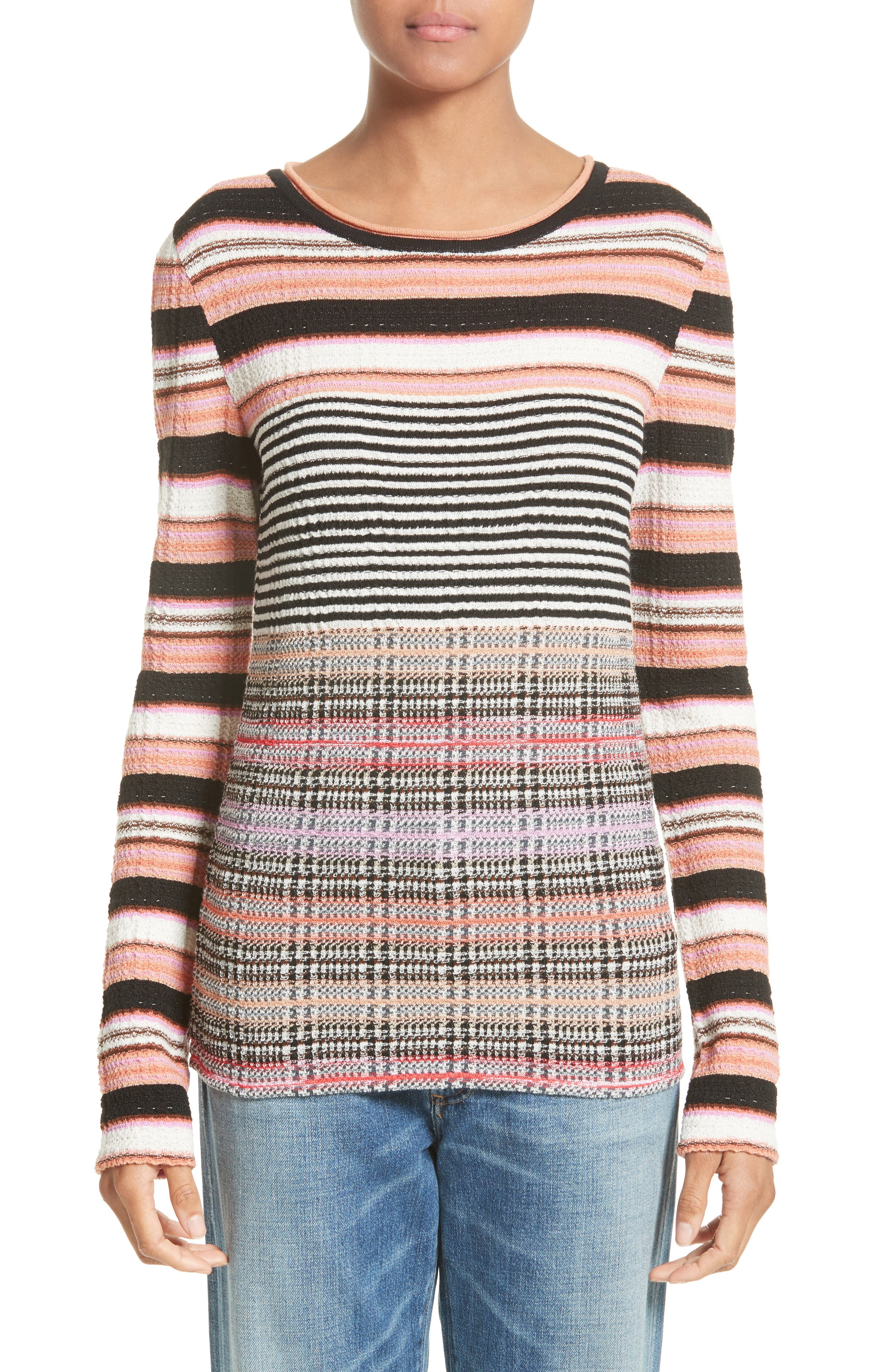 Wool Blend Sweater,                         Main,                         color, Pink Multi