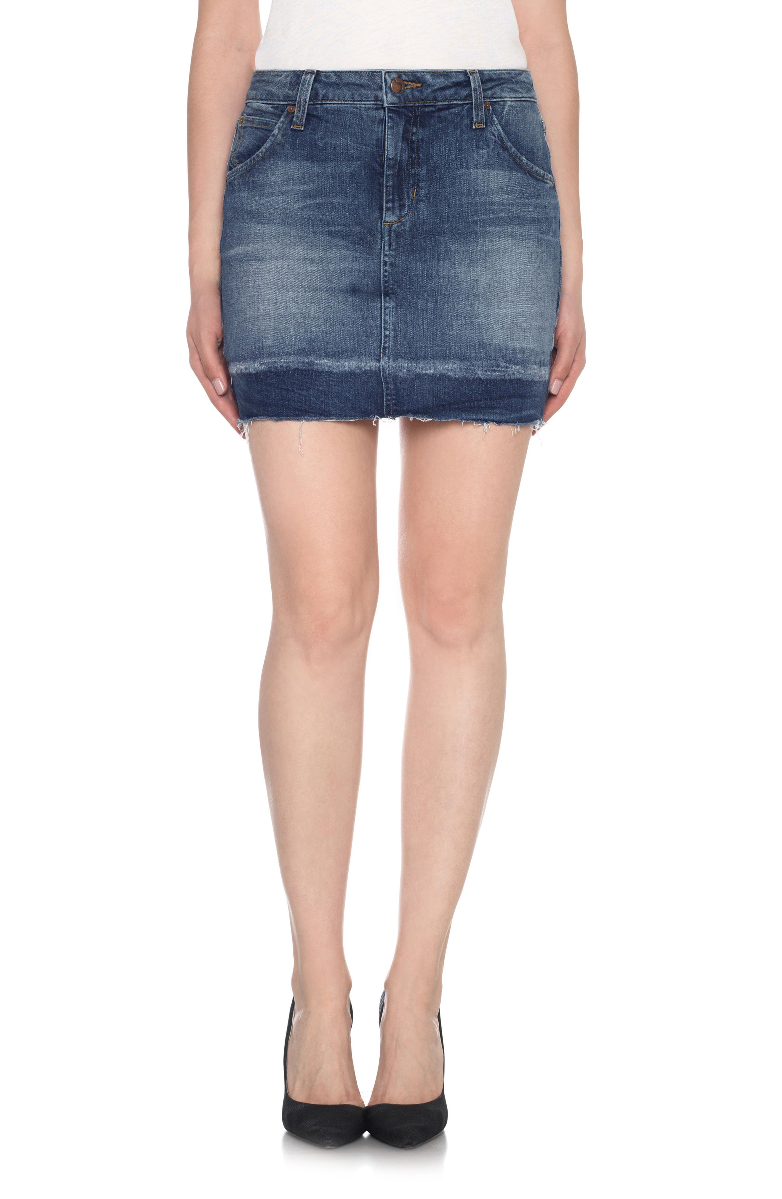 JOES Wasteland High Rise Cutoff Denim Skirt