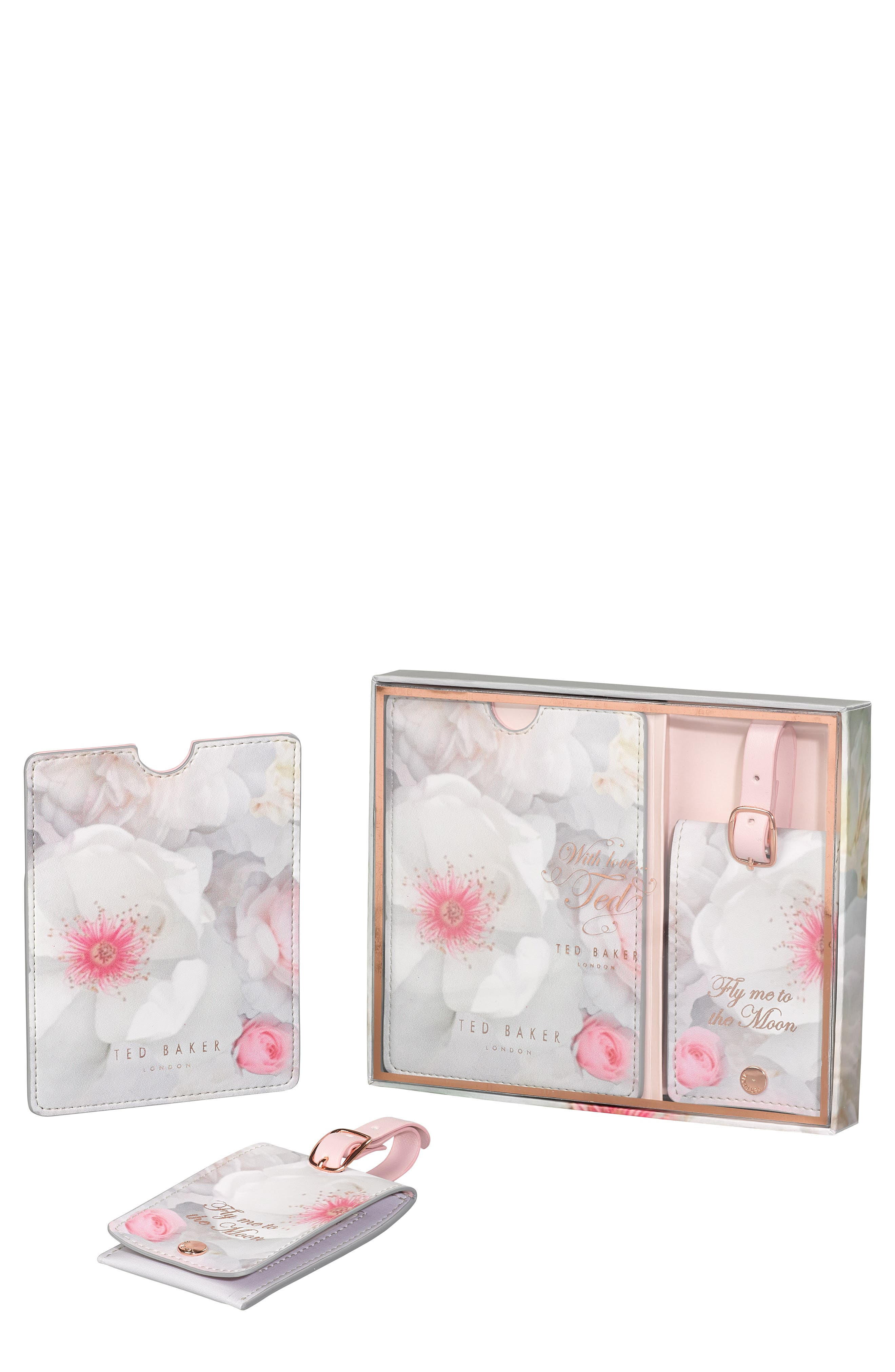 Alternate Image 1 Selected - Ted Baker London Luggage Tag & Passport Holder