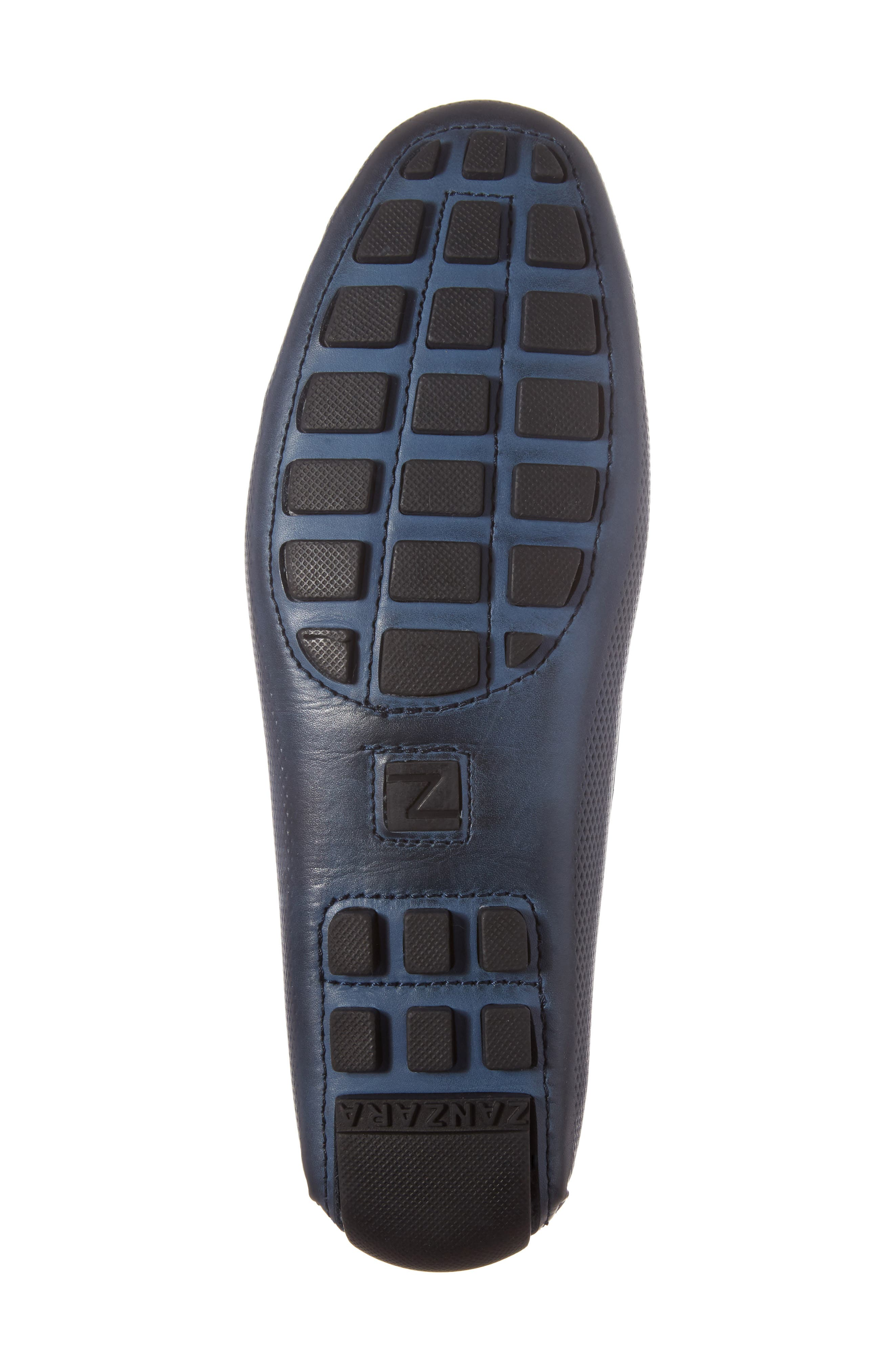 Mondrian Driving Shoe,                             Alternate thumbnail 6, color,                             Blue Leather