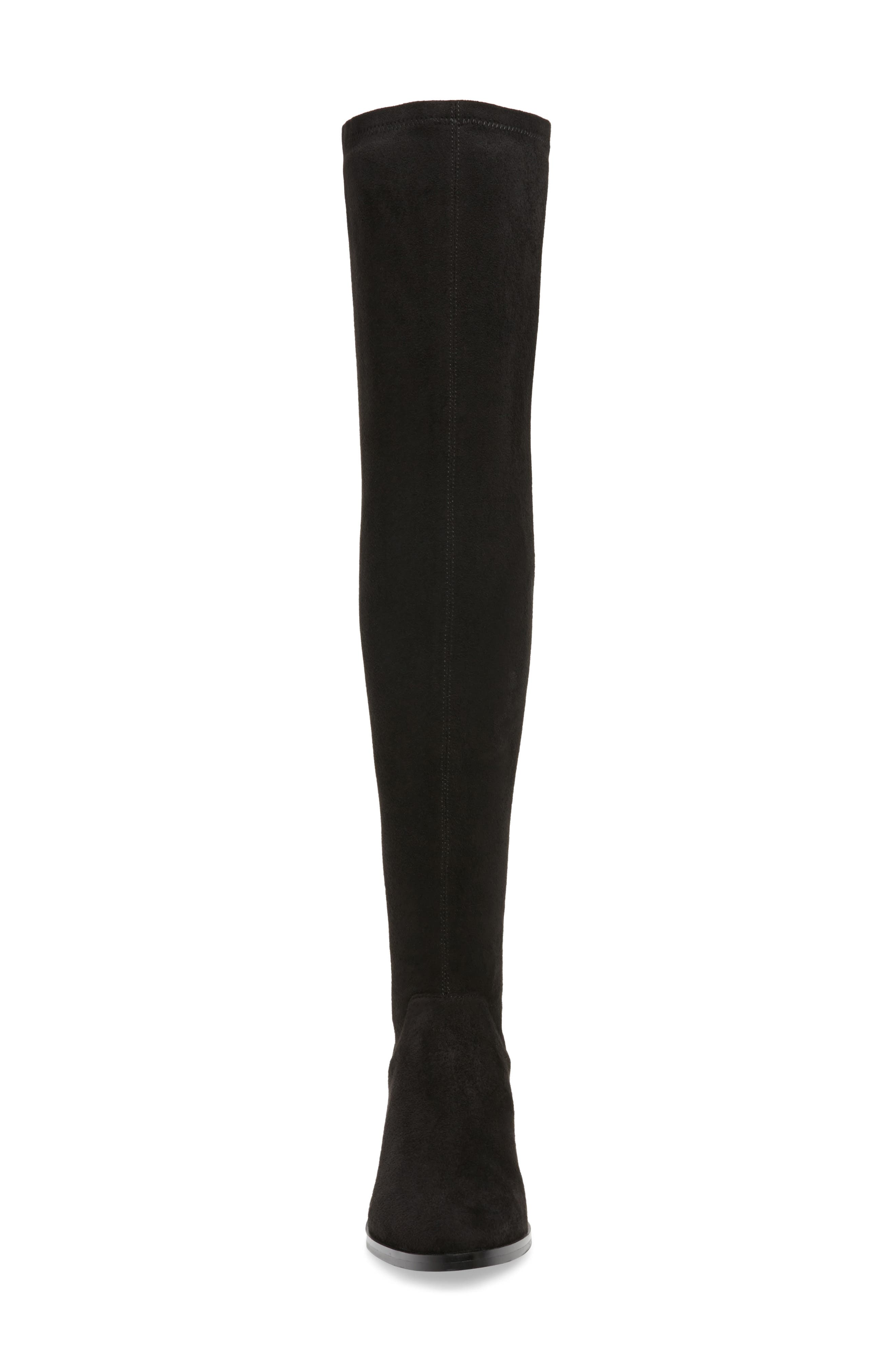 Gabbie Thigh High Boot,                             Alternate thumbnail 4, color,                             Black