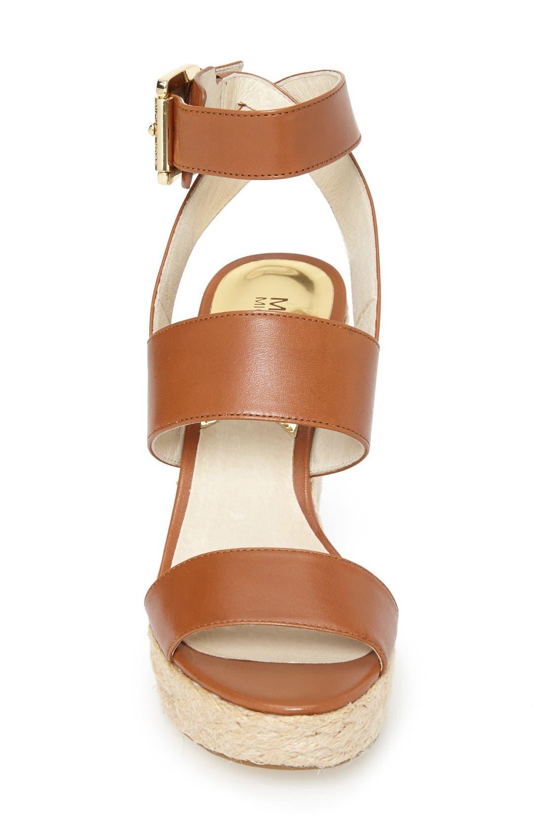 Alternate Image 3  - MICHAEL Michael Kors 'Posey' Ankle Strap Espadrille Wedge Sandal (Women)