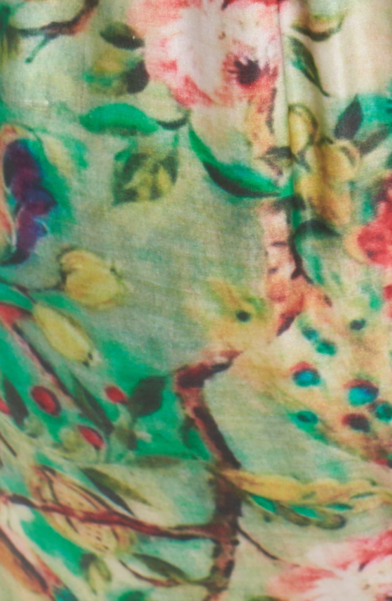 Alternate Image 7  - ELVI Beleted Floral Komono Jacket