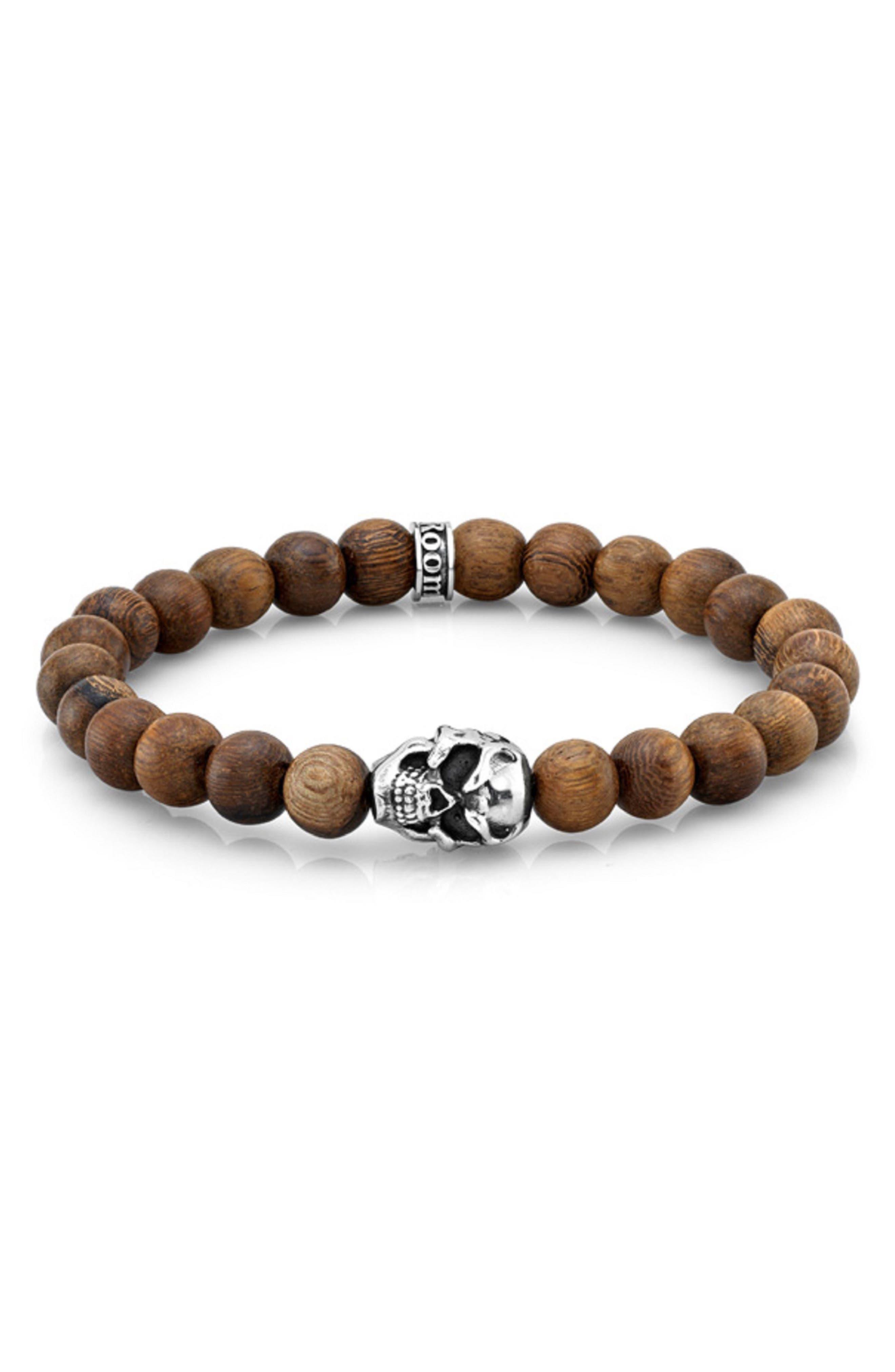 Main Image - Room101 Wood Bead Bracelet