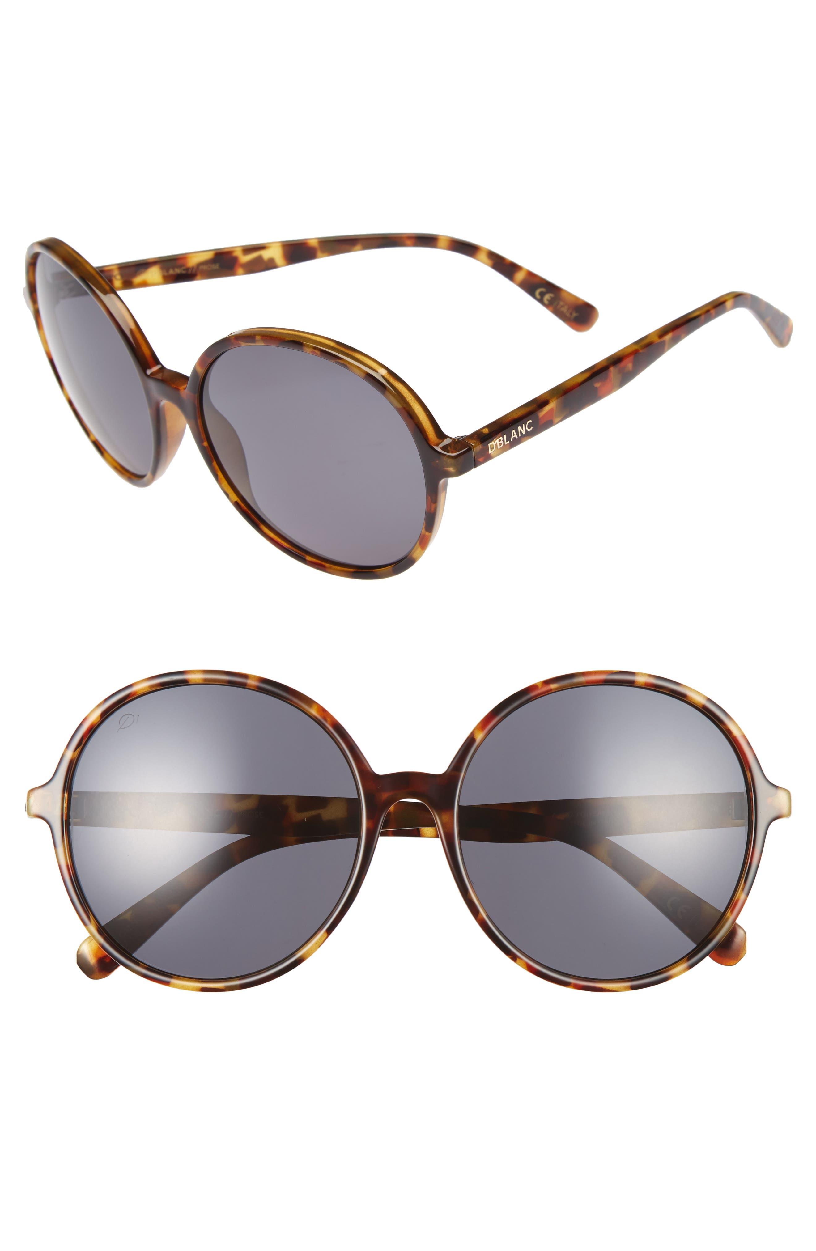 D'BLANC Prose 59mm Round Sunglasses
