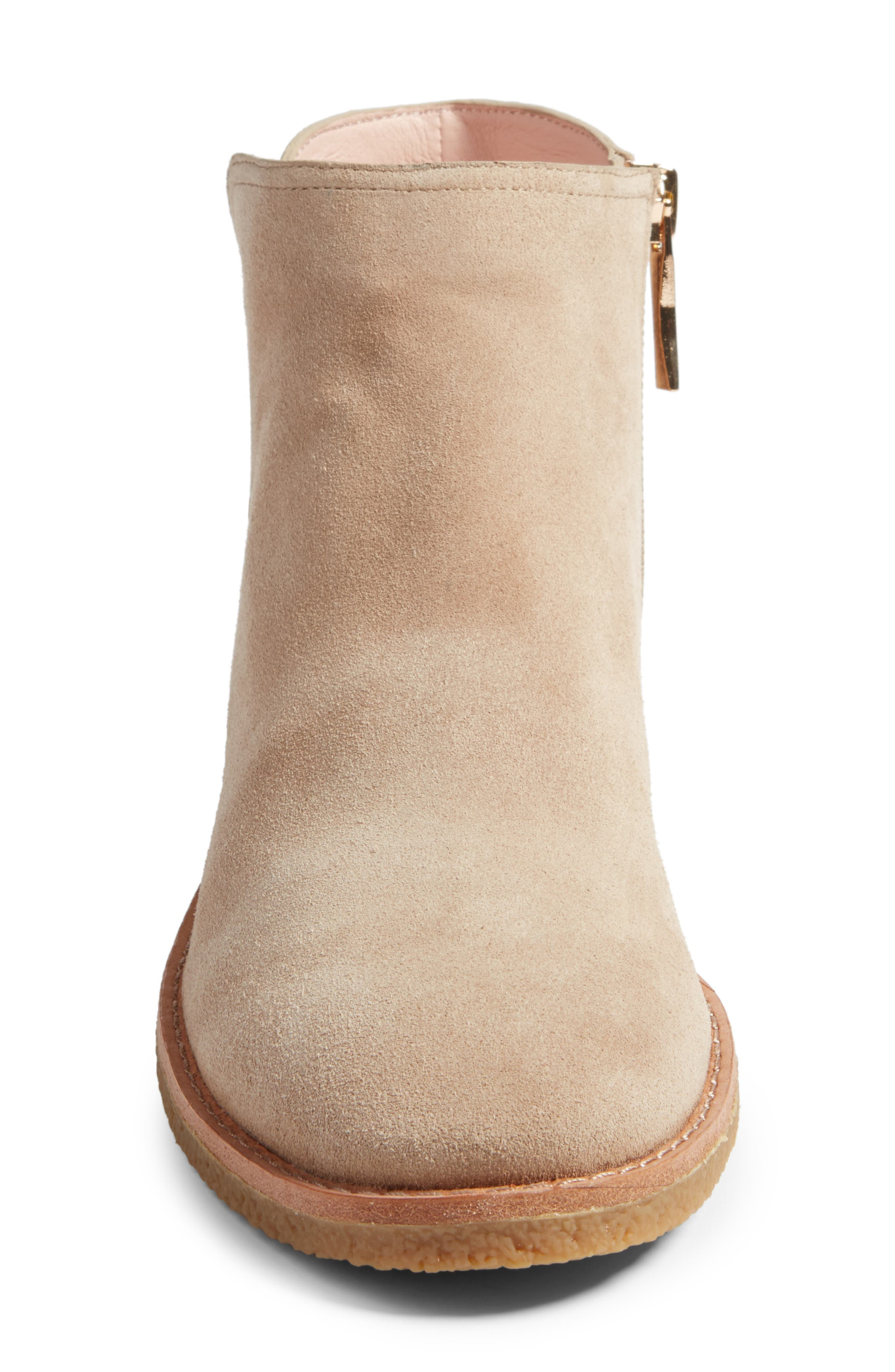 belleville bootie,                             Alternate thumbnail 4, color,                             Desert Cow Suede