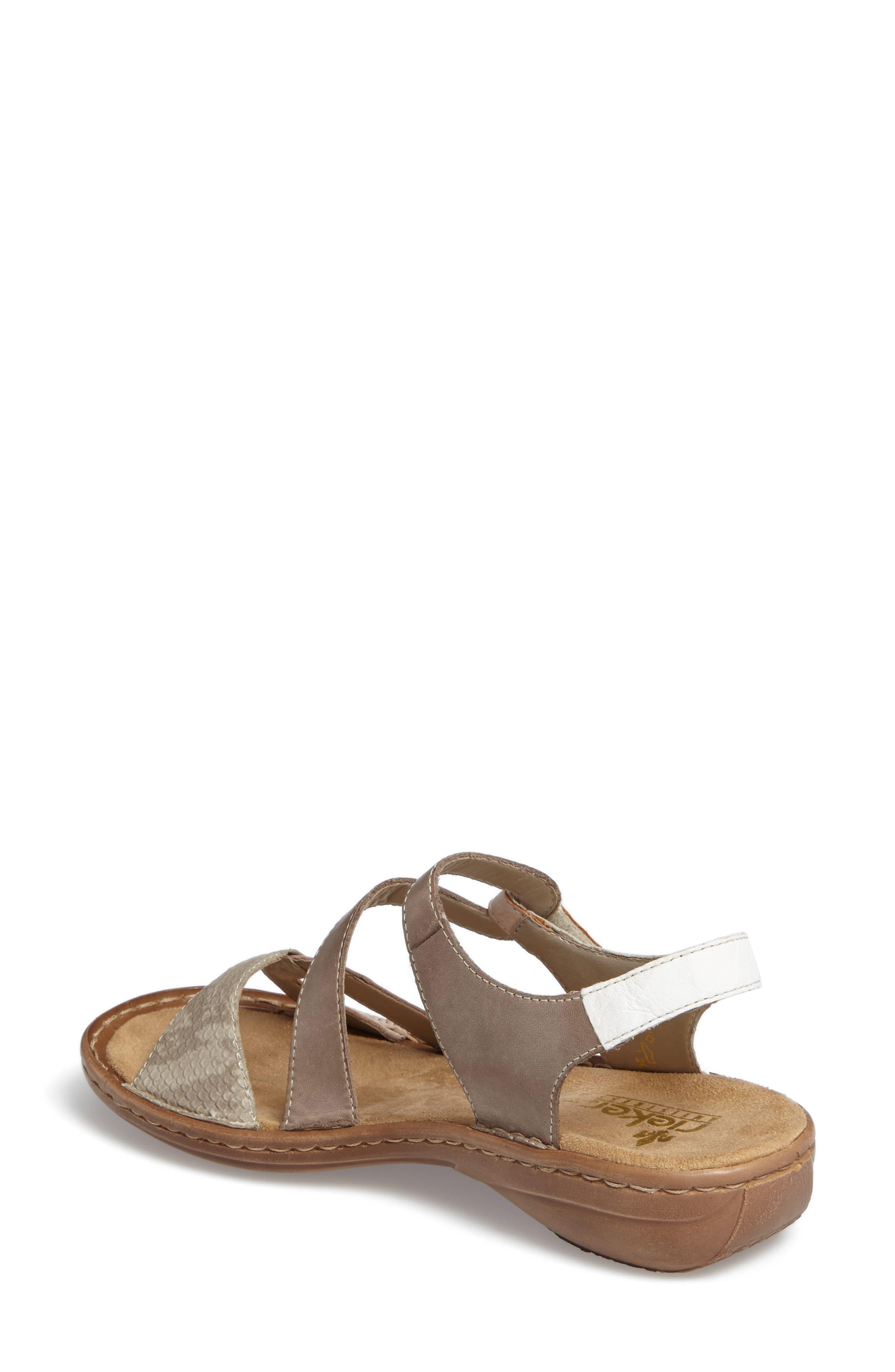 Regina 66 Wedge Sandal,                             Alternate thumbnail 2, color,                             Rose Leather