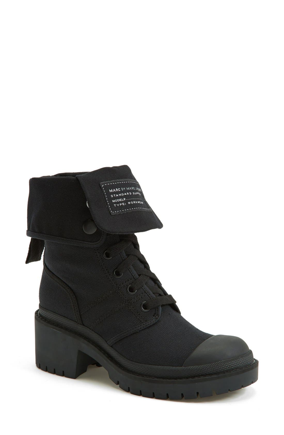 Alternate Image 1 Selected - MARC BY MARC JACOBS Canvas Boot (Women)