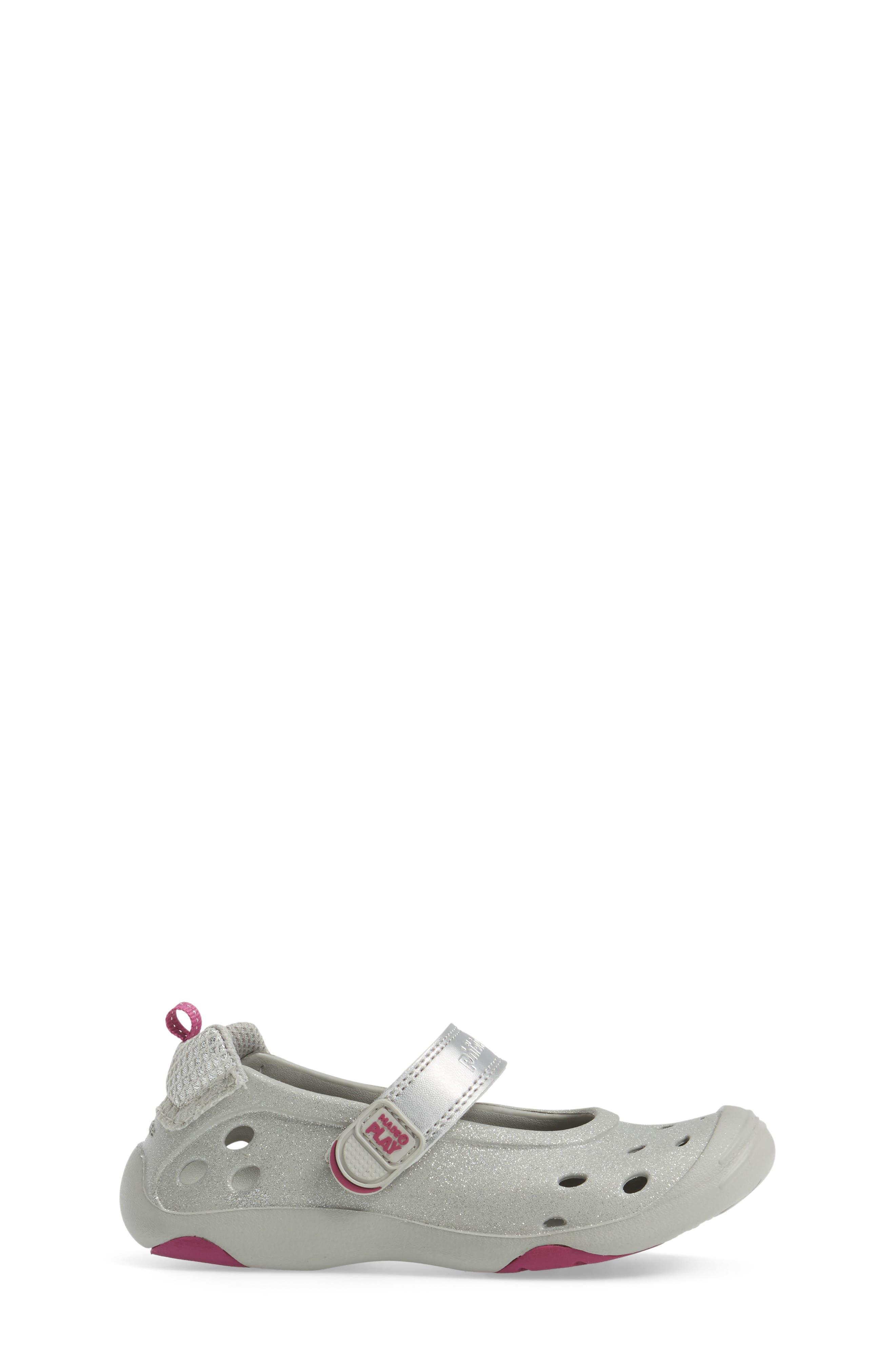 M2P Phibian<sup>®</sup> Metallic Mary Jane,                             Alternate thumbnail 3, color,                             Silver Glitter