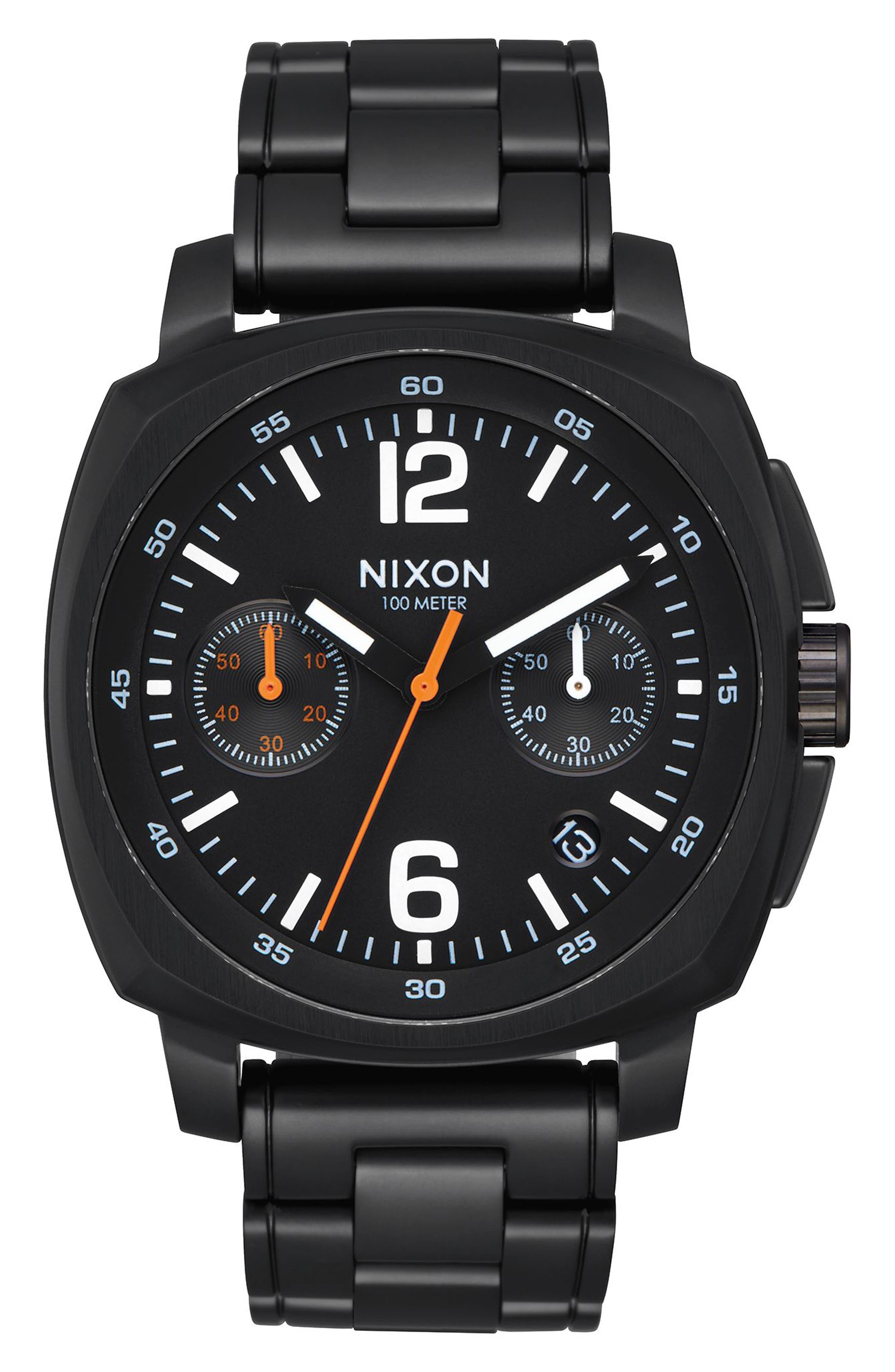 Charger Chronograph Bracelet Watch, 42mm,                         Main,                         color, Black