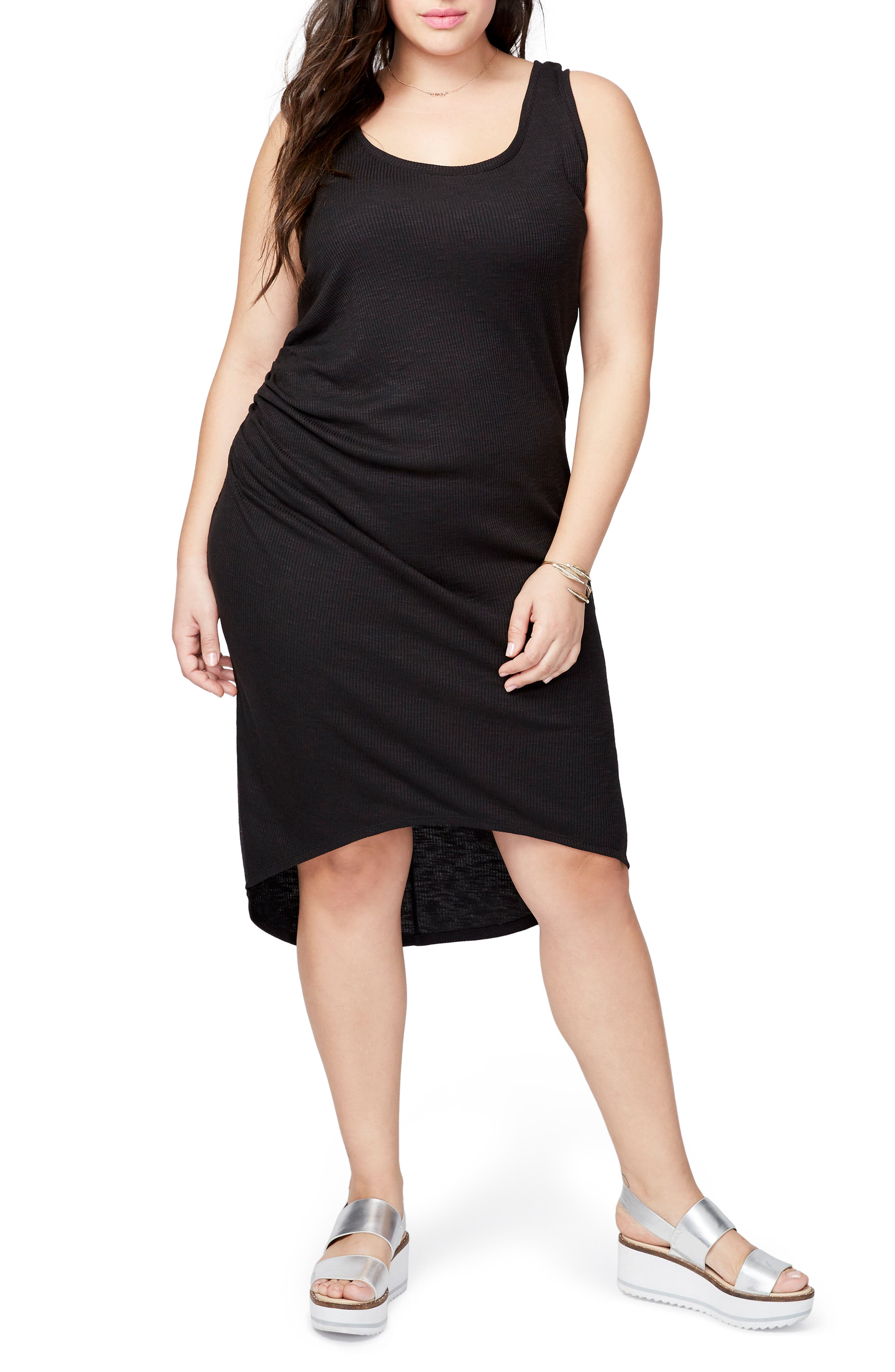Michelle Tank Dress,                             Main thumbnail 1, color,                             Black