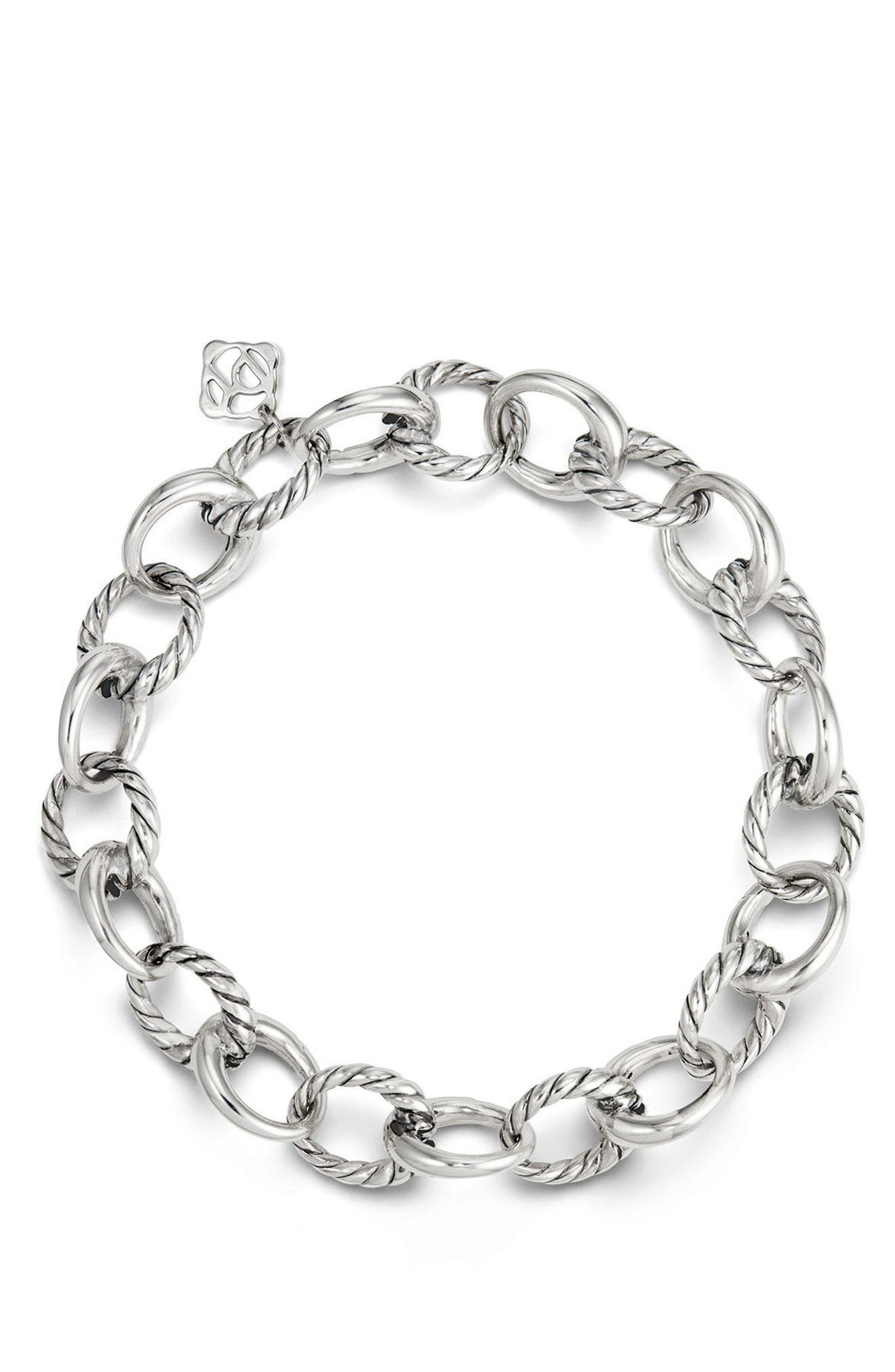 Cable Collectives Oval Link Charm Bracelet,                             Alternate thumbnail 2, color,                             Silver