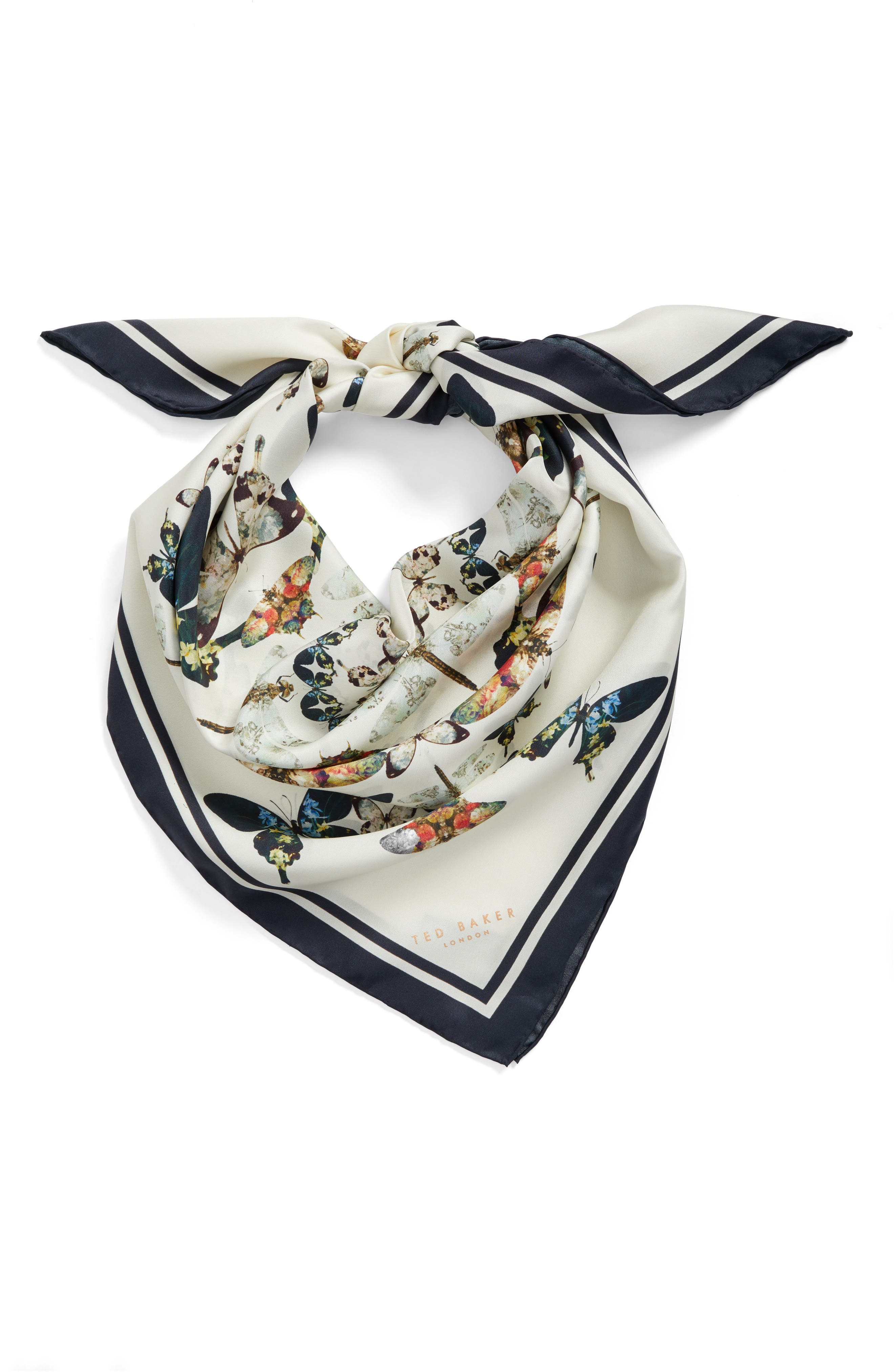 Alternate Image 3  - Ted Baker London Butterfly Kaleidoscope Square Silk Scarf